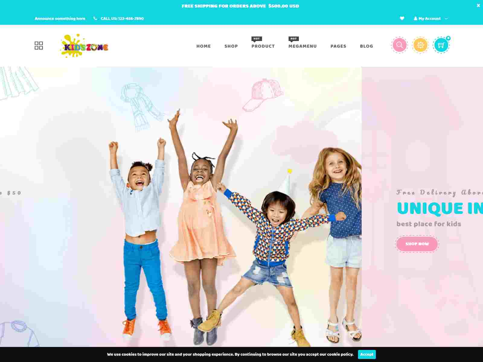 Kids zone - Baby Fashion and  Toys Store Shopify Theme