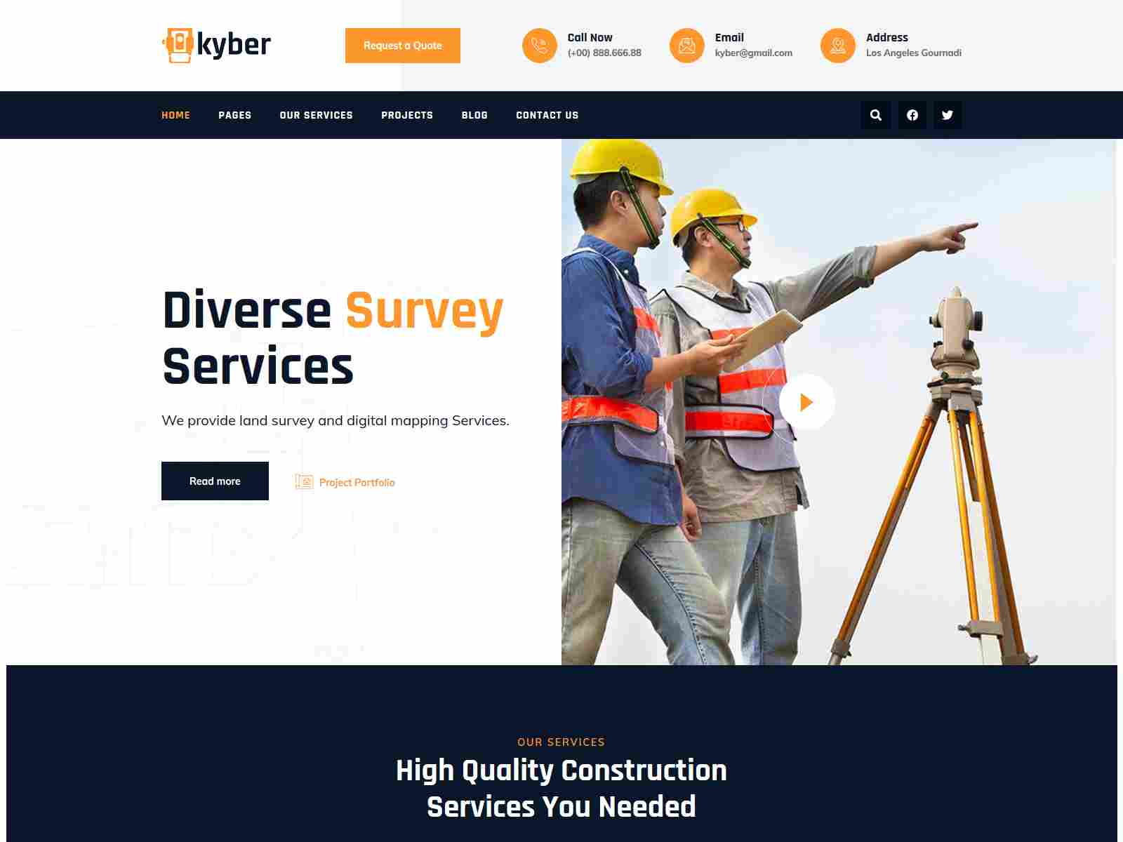 Best Premium Land Survey WordPress Themes