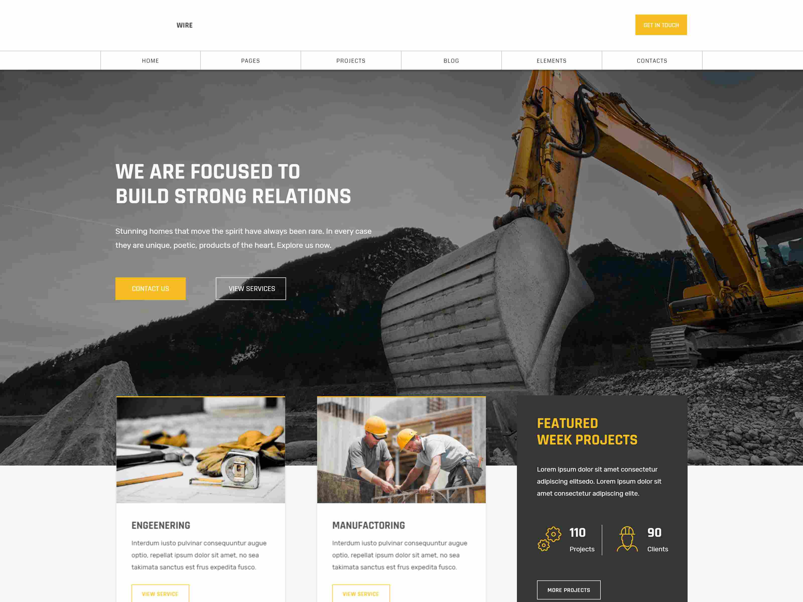 Lightwire - Construction and Industry Joomla Template