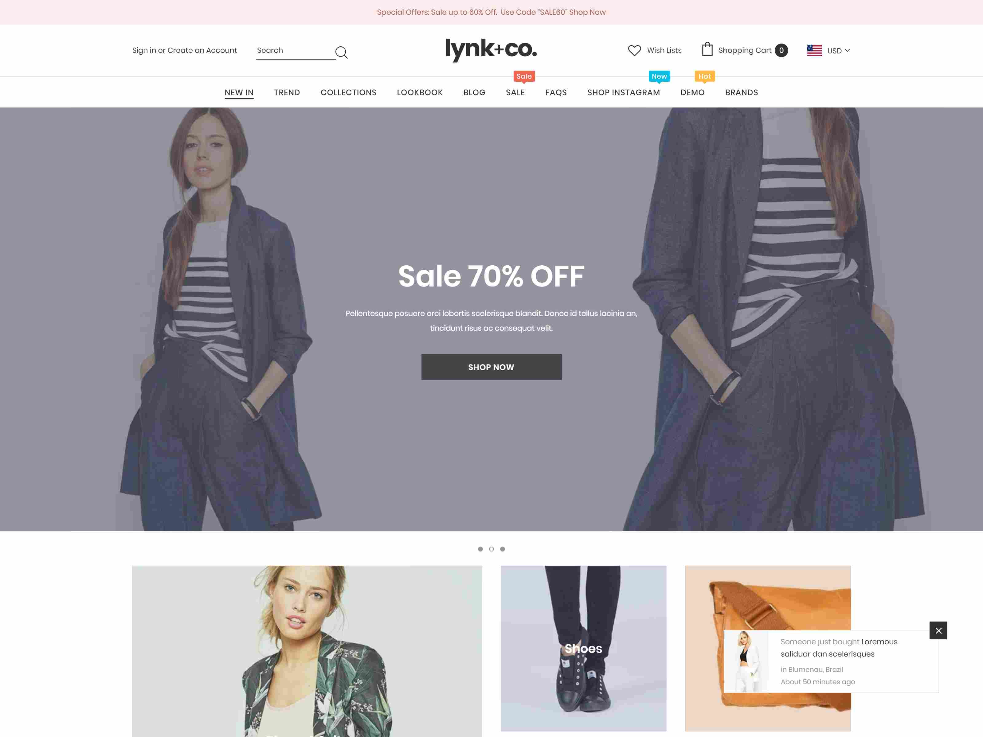 Lynk+Co - Responsive Fashion Shopify Theme (Sections Ready)