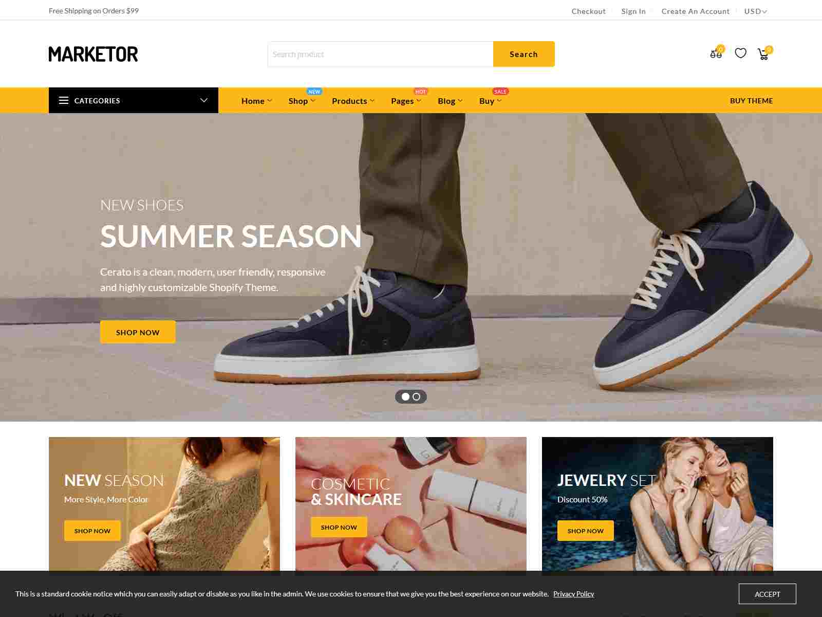 Marketor - Multipurpose Responsive Shopify Theme