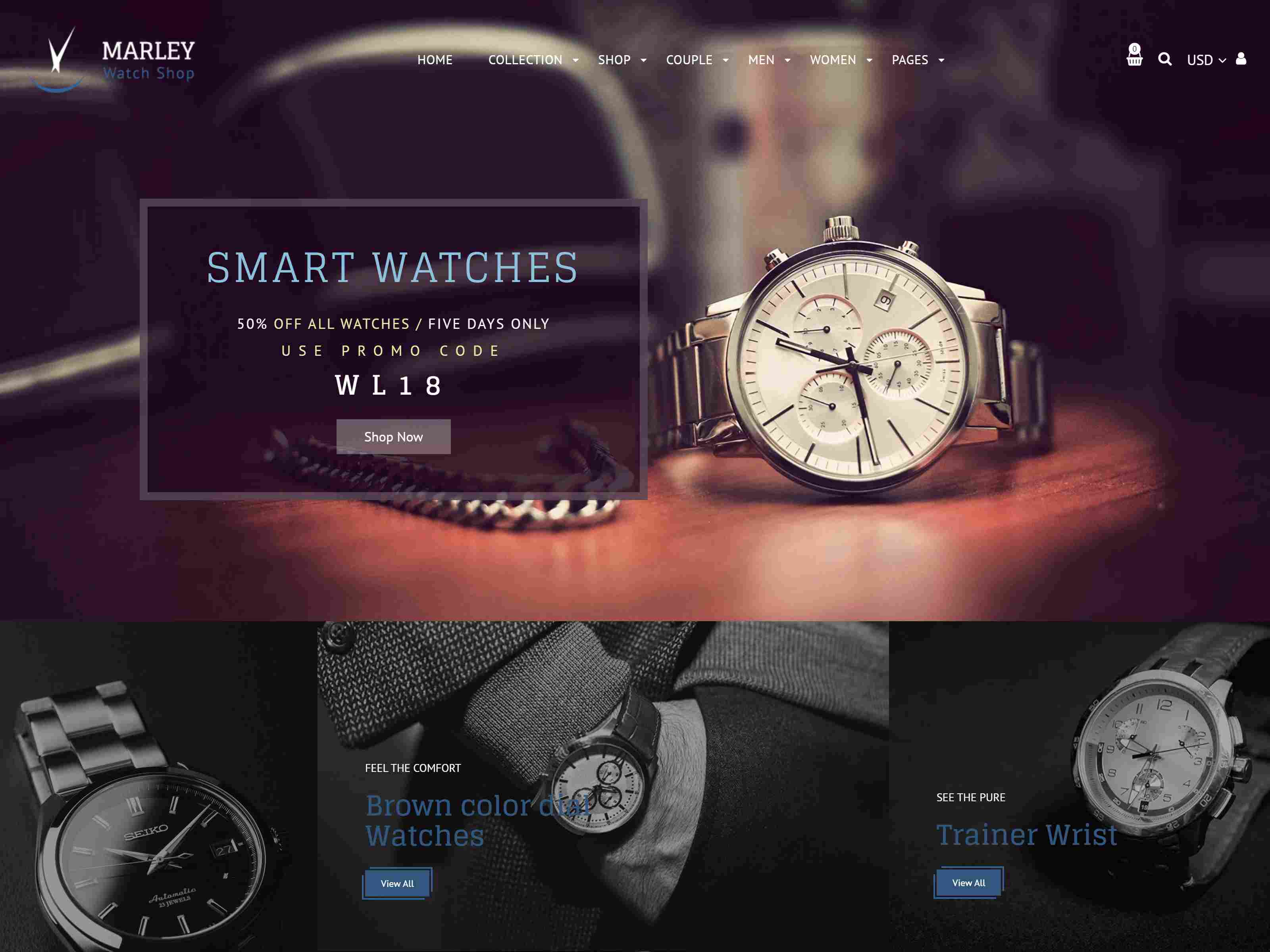 Marley | Luxury Watch Shopify Theme