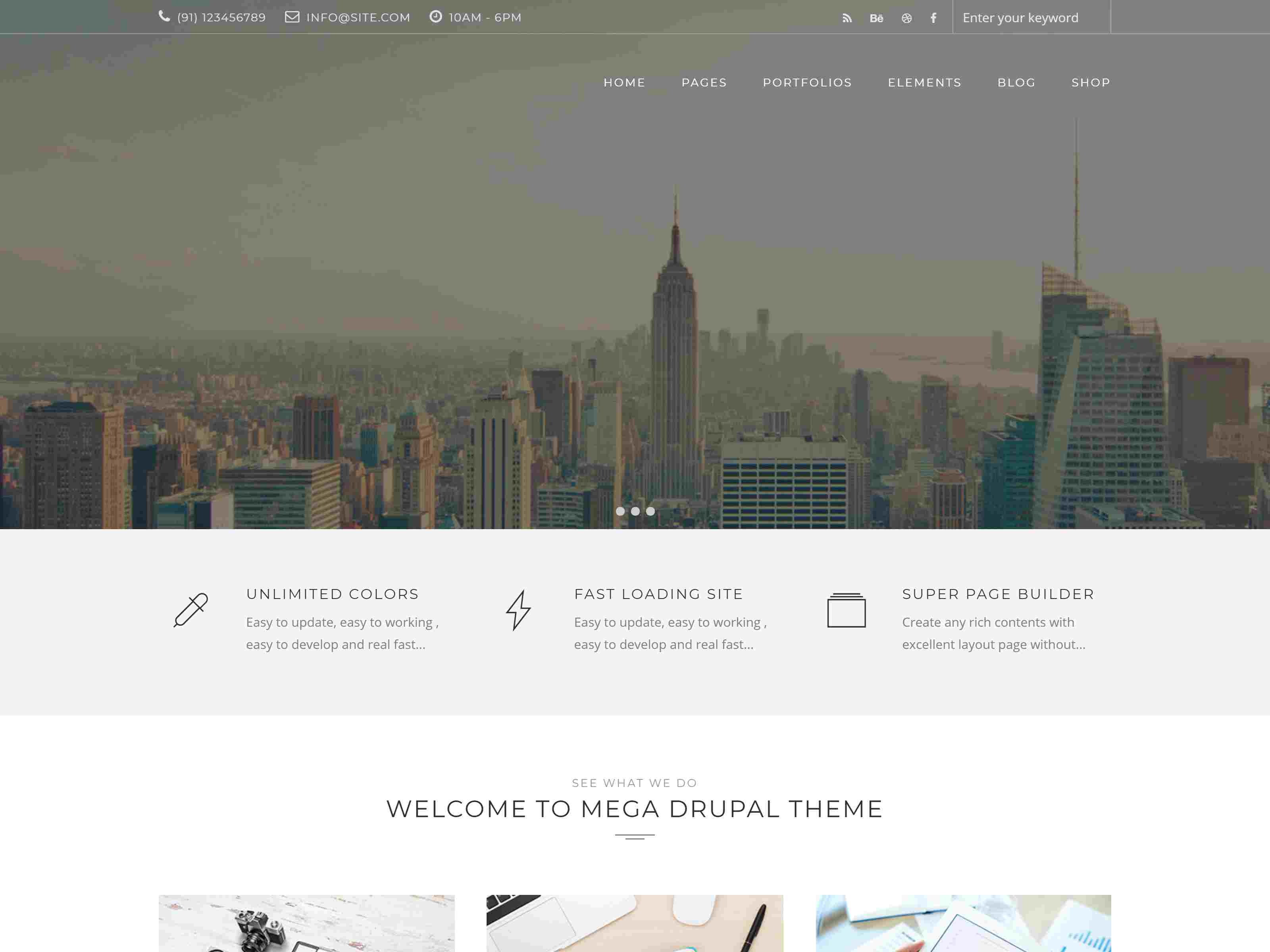 Mega - Creative Multi-Purpose Drupal 7 - 8.8 Theme