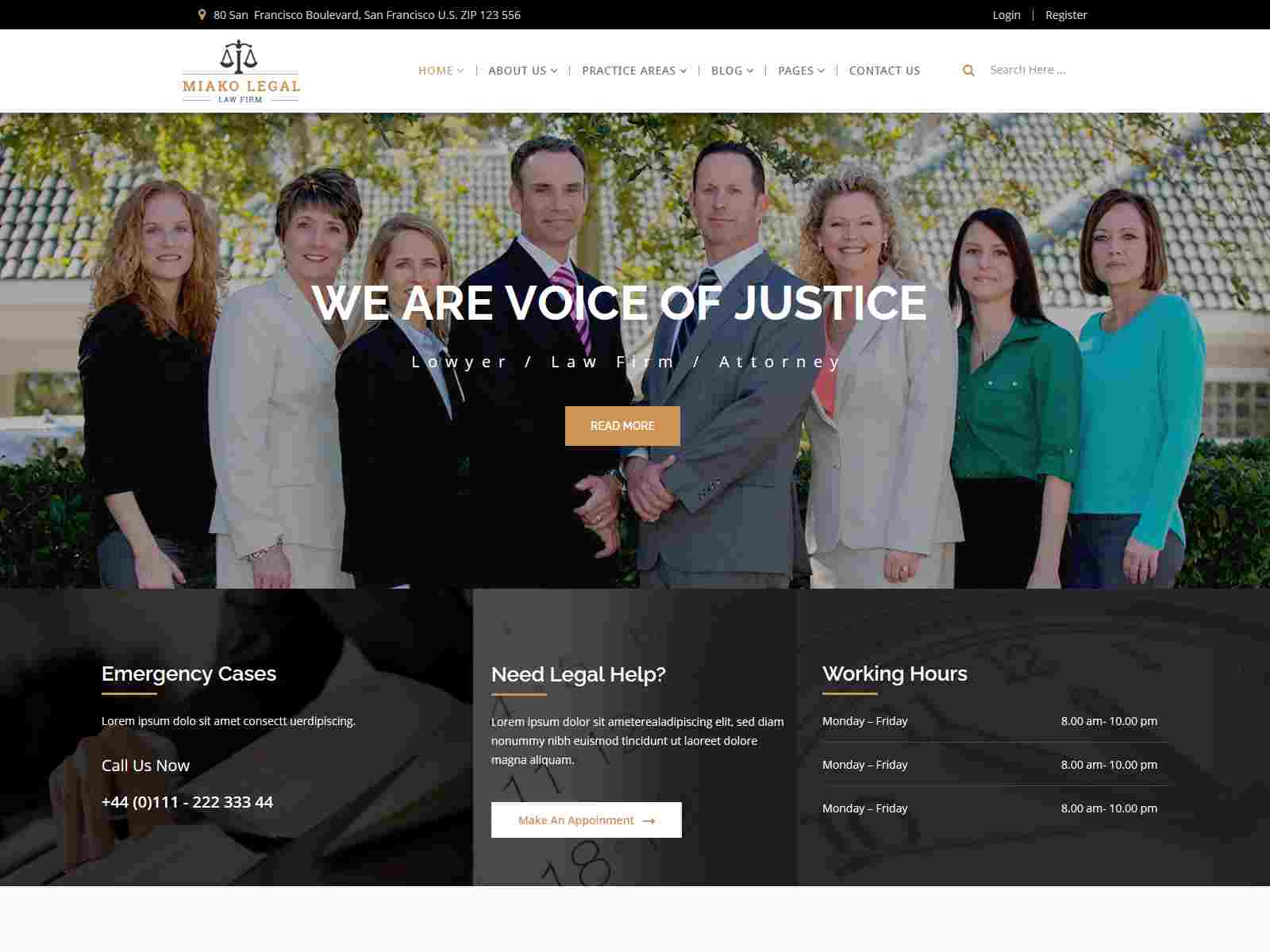 Miako Legal  Law Firm Joomla Template