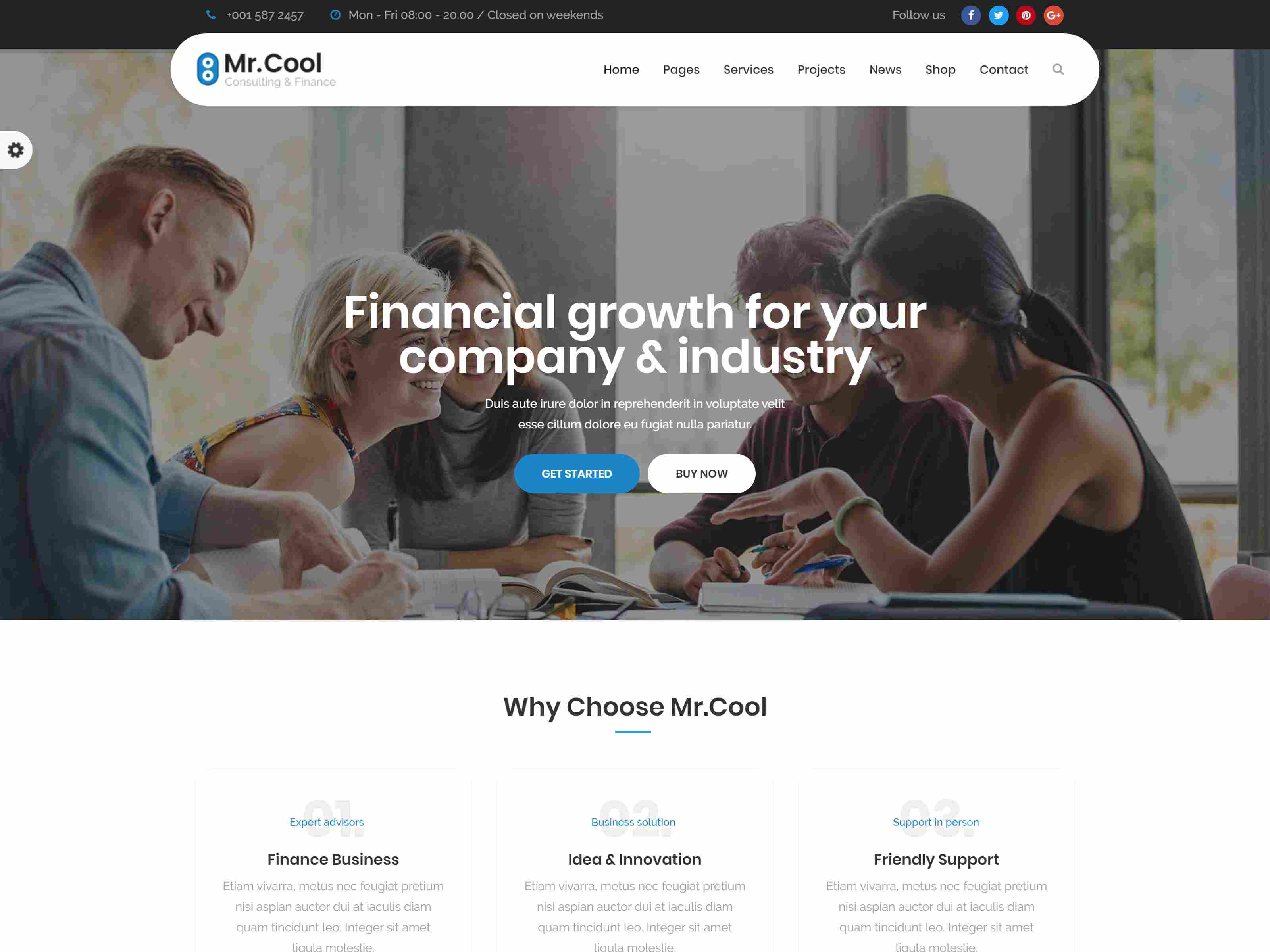 Mr. Cool - Consulting, Finance & Business Joomla Template