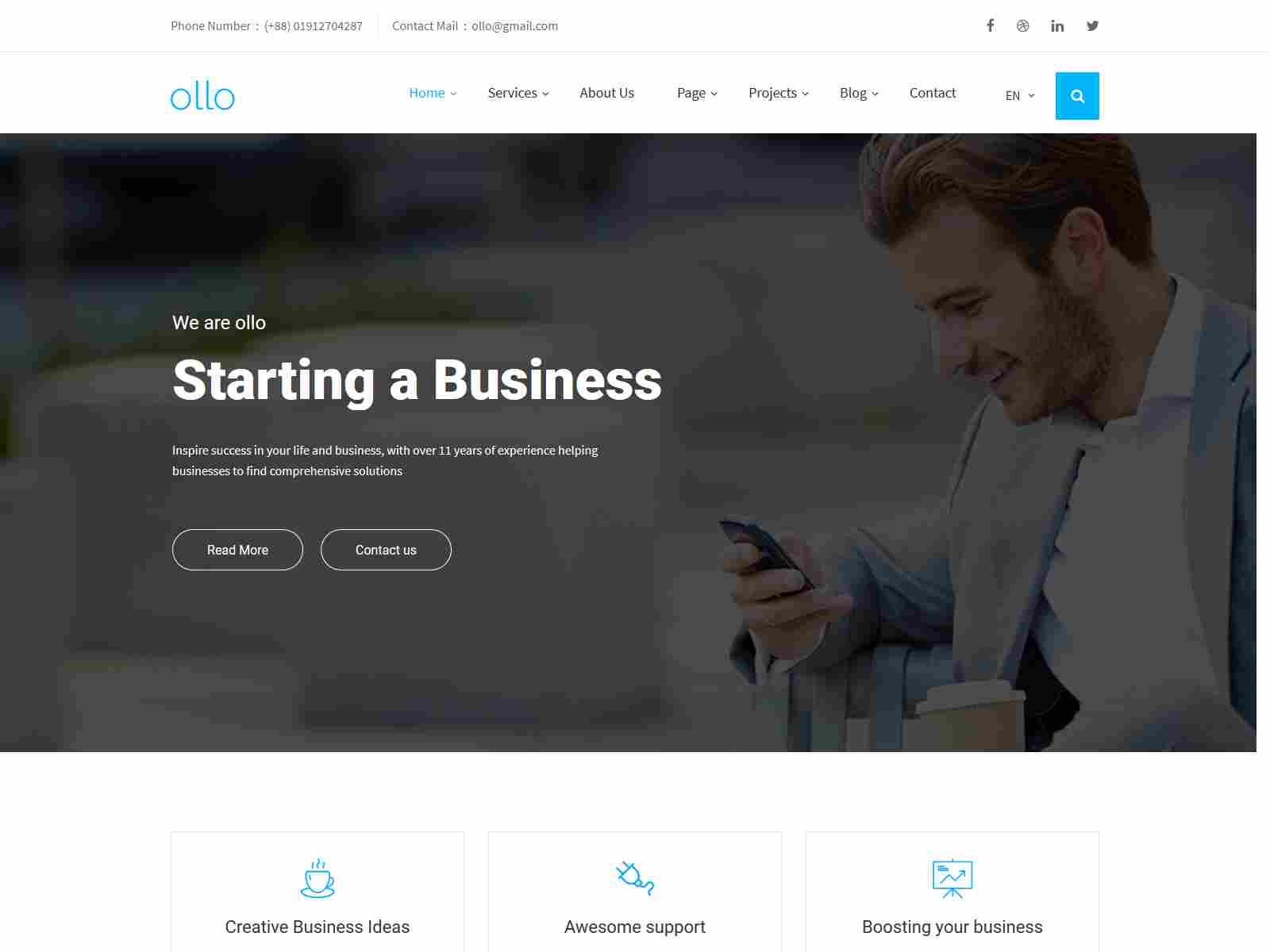 ollo Business & Agency Drupal 8.8 Theme