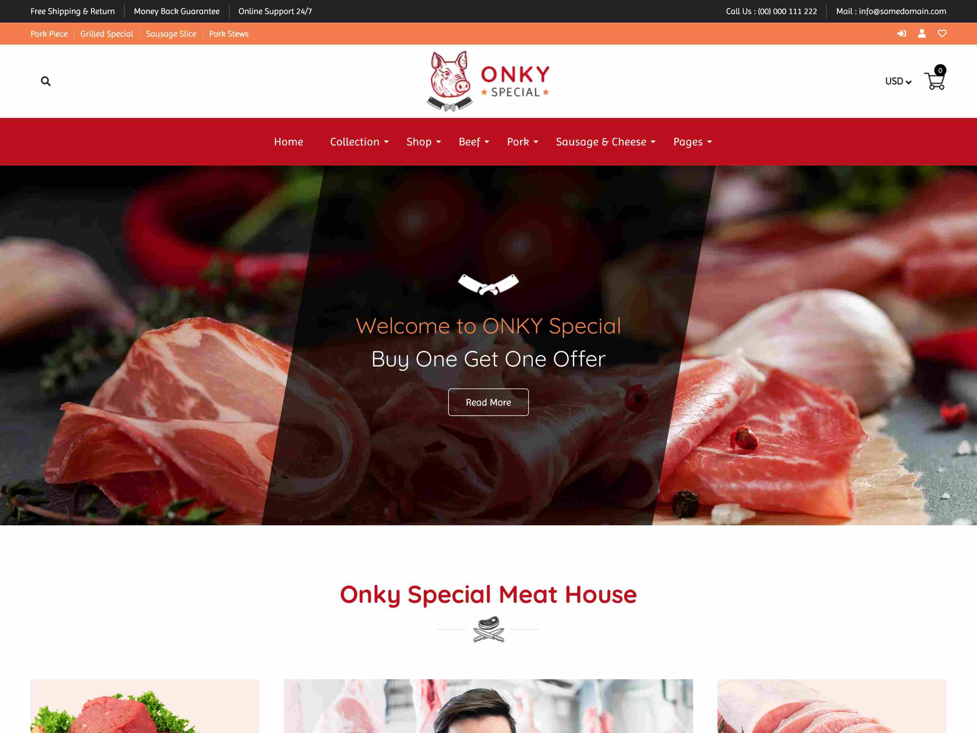 Onky | Butcher, Food and Meat Shop Shopify Theme