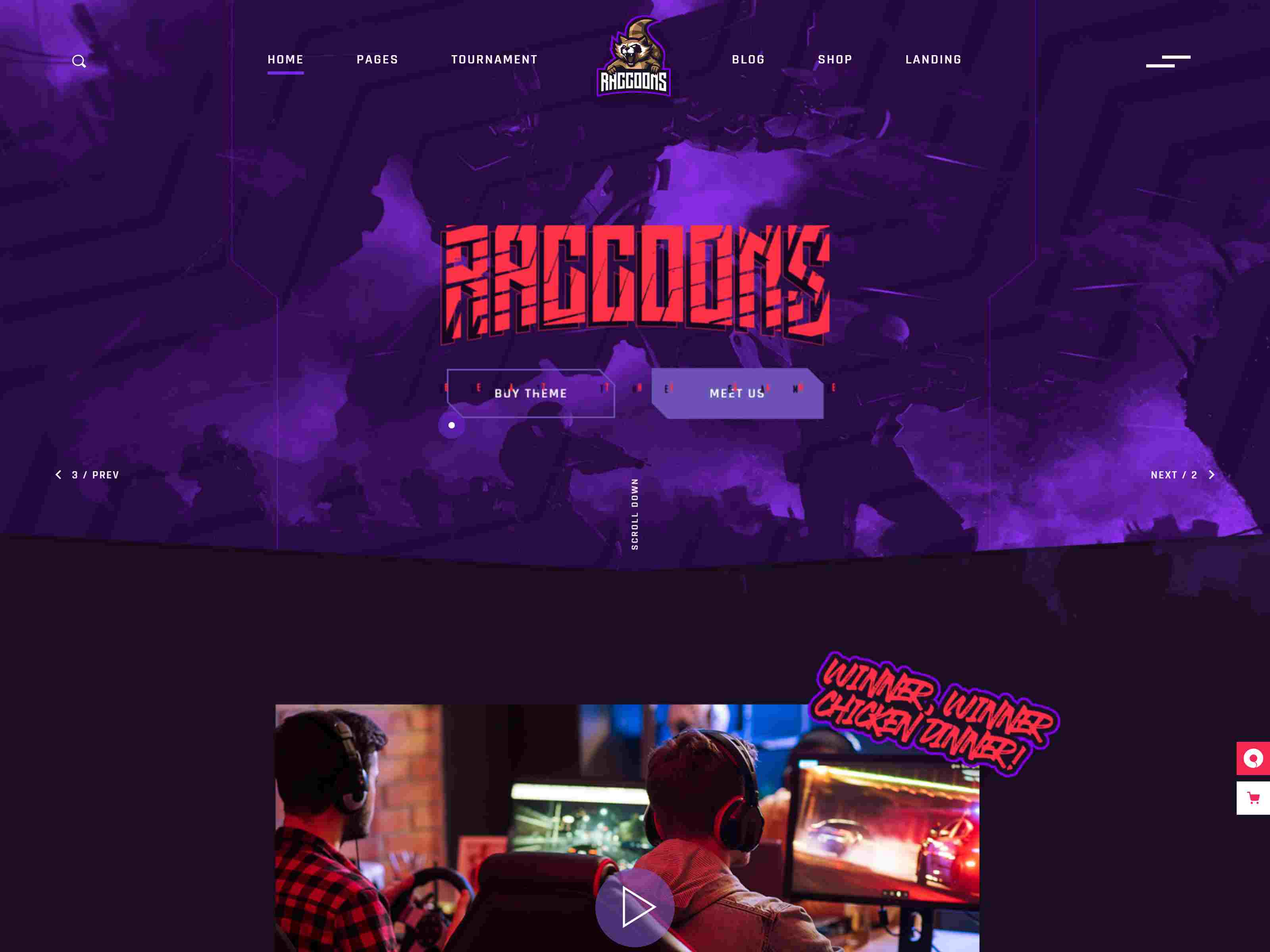 Overworld - eSports and Gaming Theme wordpress news themes
