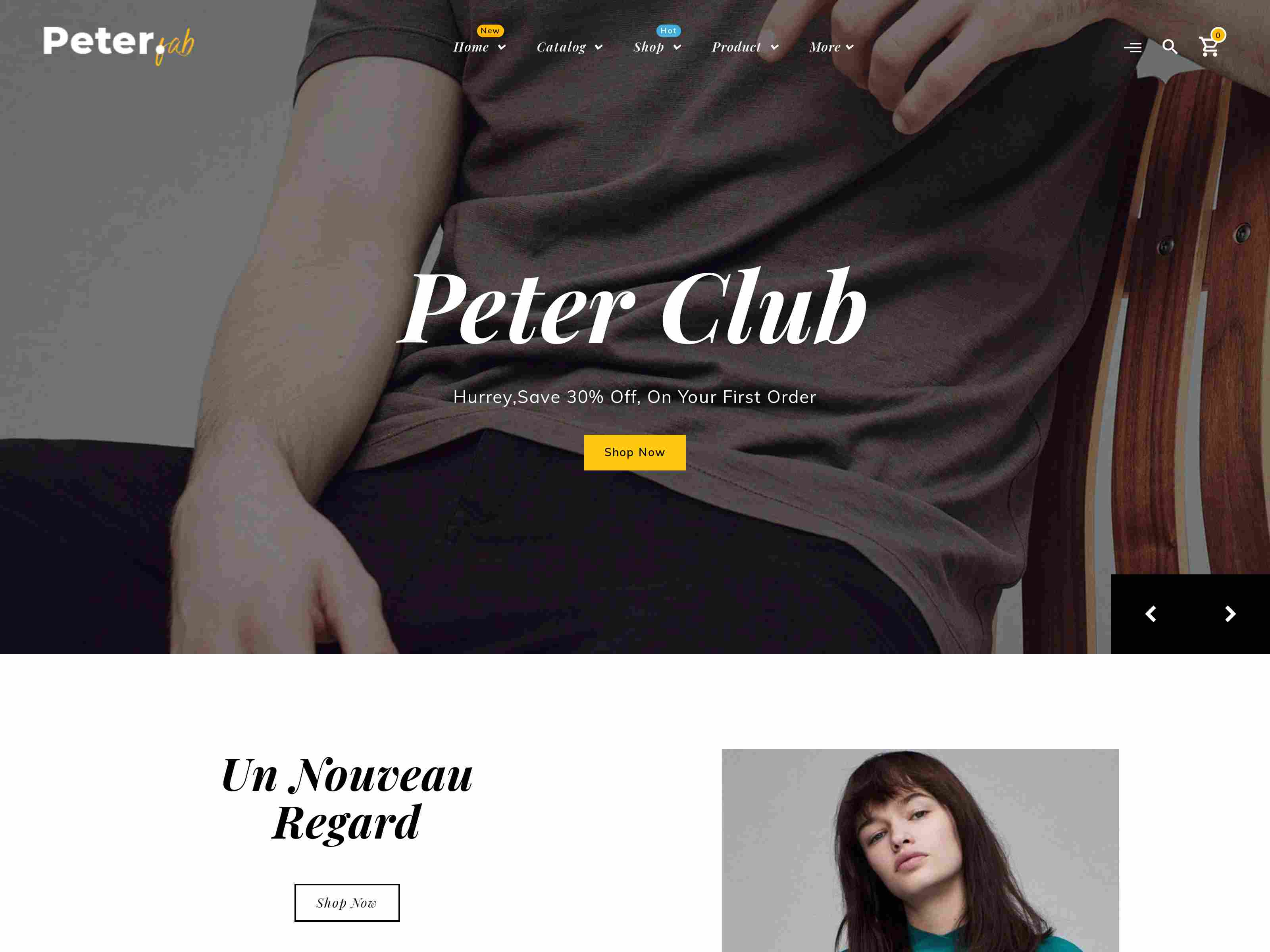 Peter - eCommerce Shopify Theme for Boutique Shop