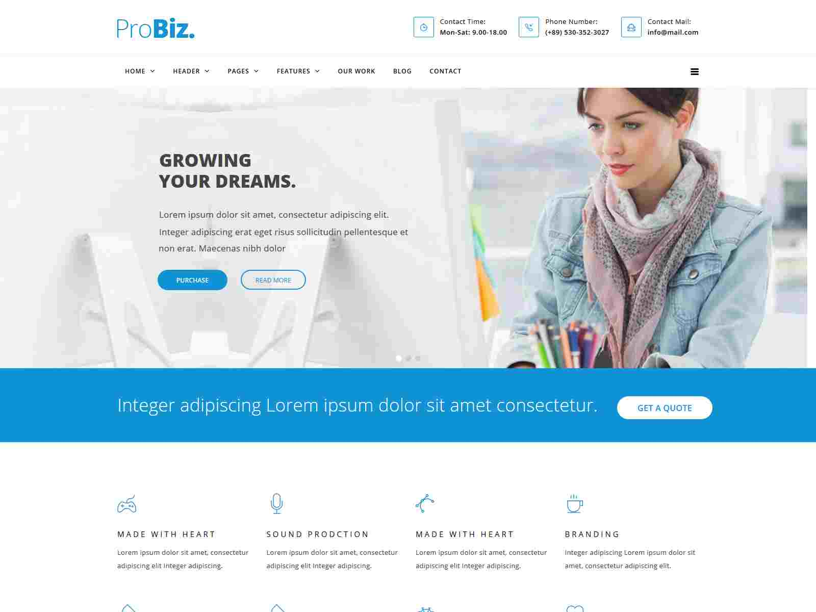 ProBiz! - Multipurpose Business Drupal 8.8 Theme