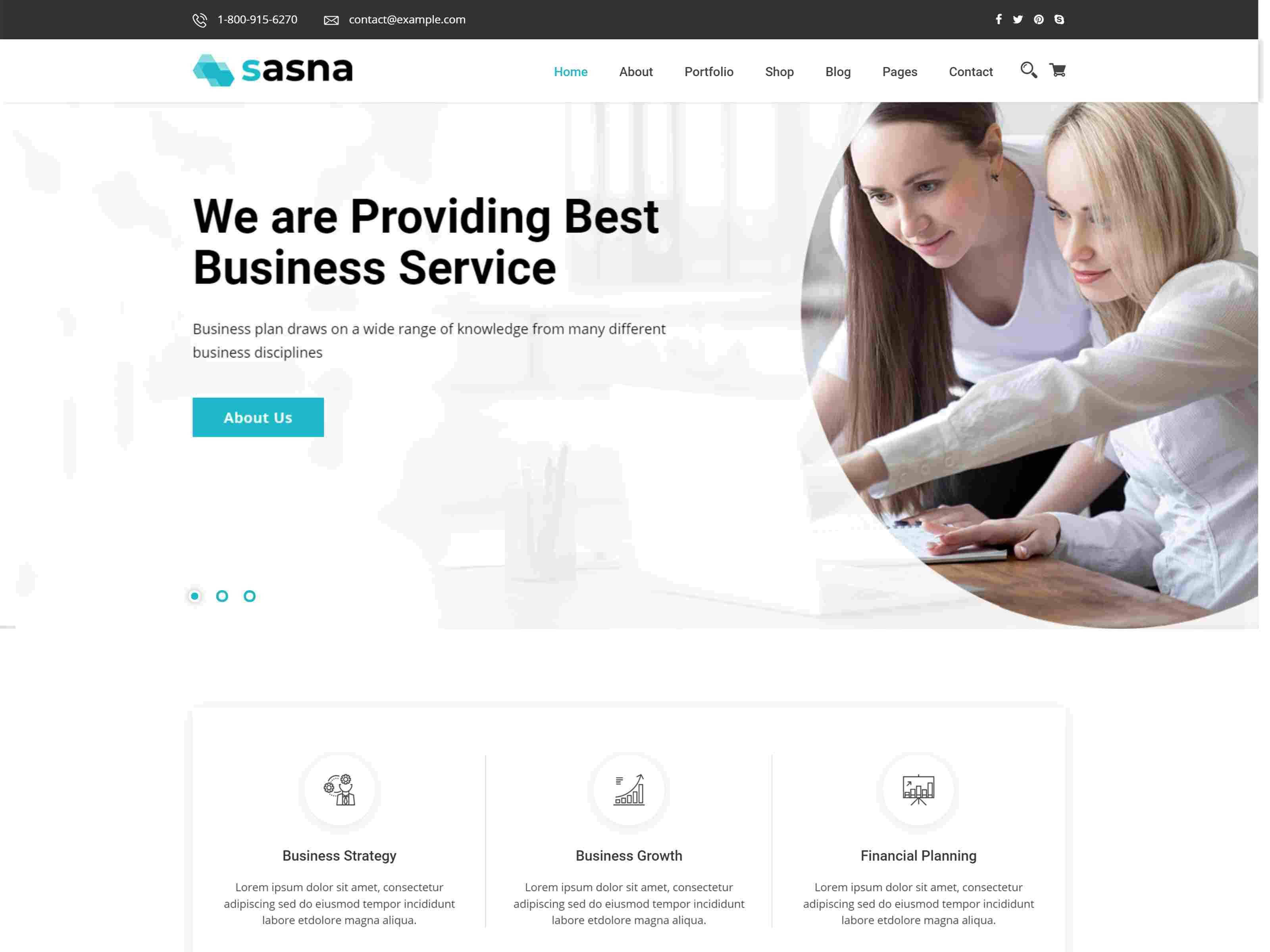 Sasna - Multipurpose Business Joomla Template