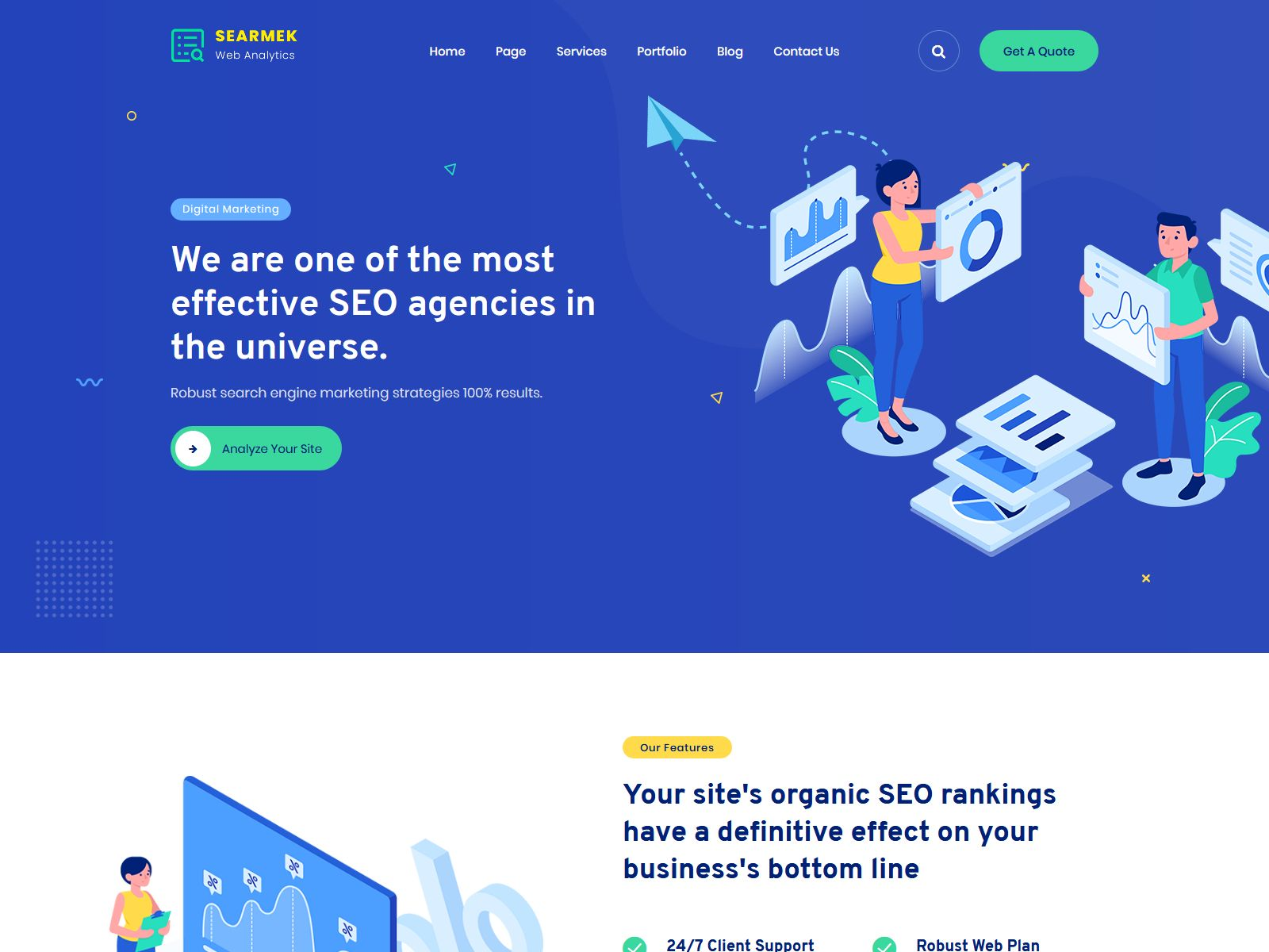 Searmek - SEO and Marketing WordPress Theme