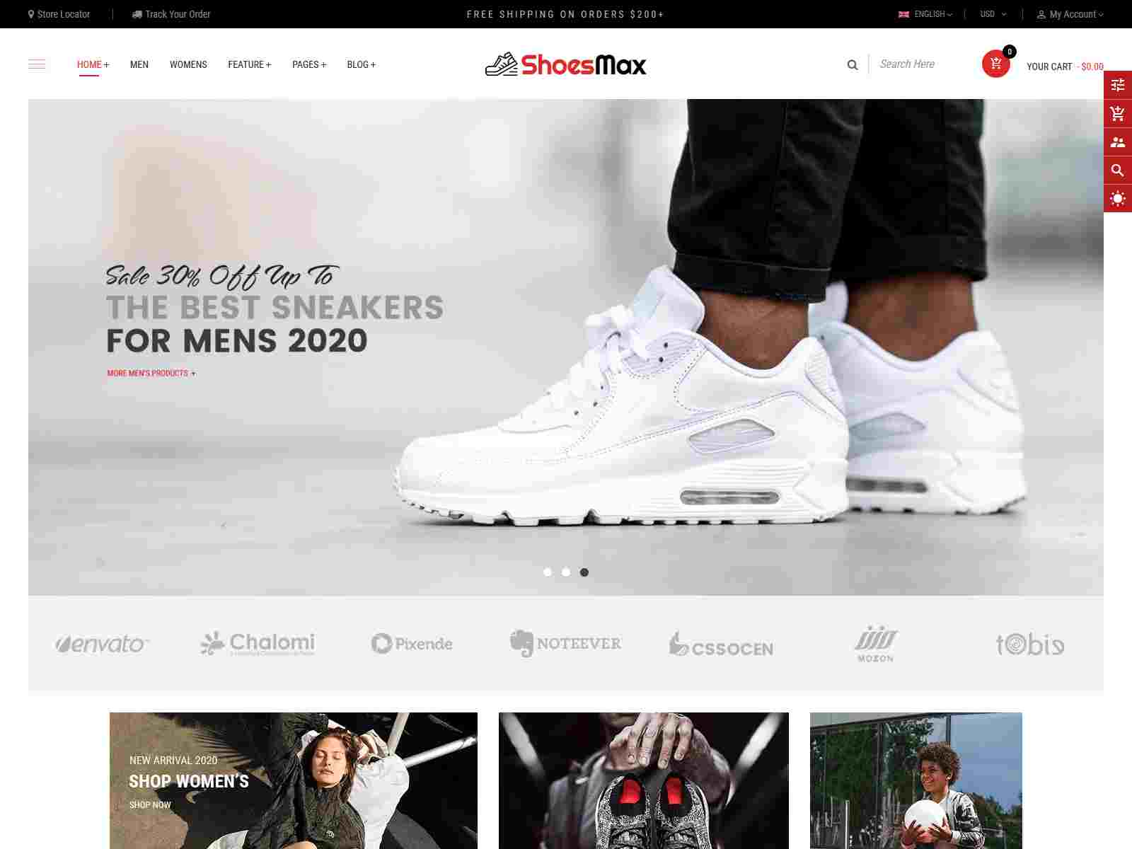ShoesMax - Minimal Shoes Store Shopify Sections Theme