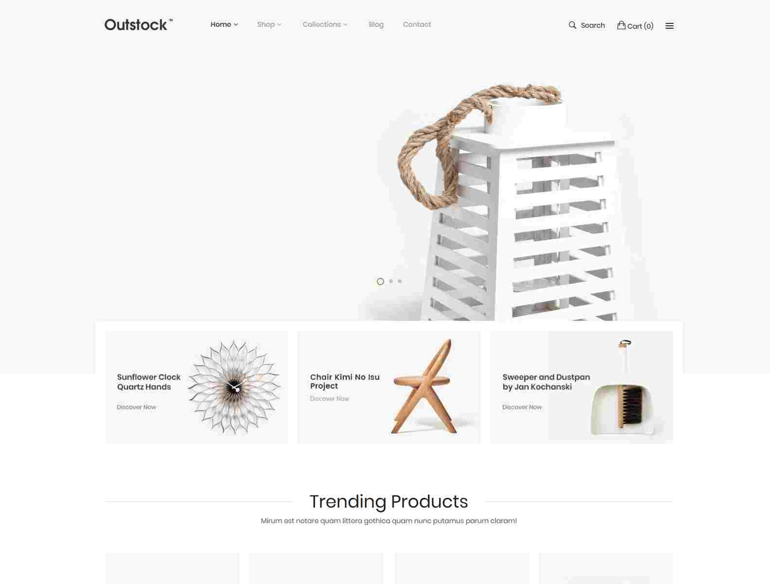 Shopify - Outstock Clean, Minimal , Drag and Drop