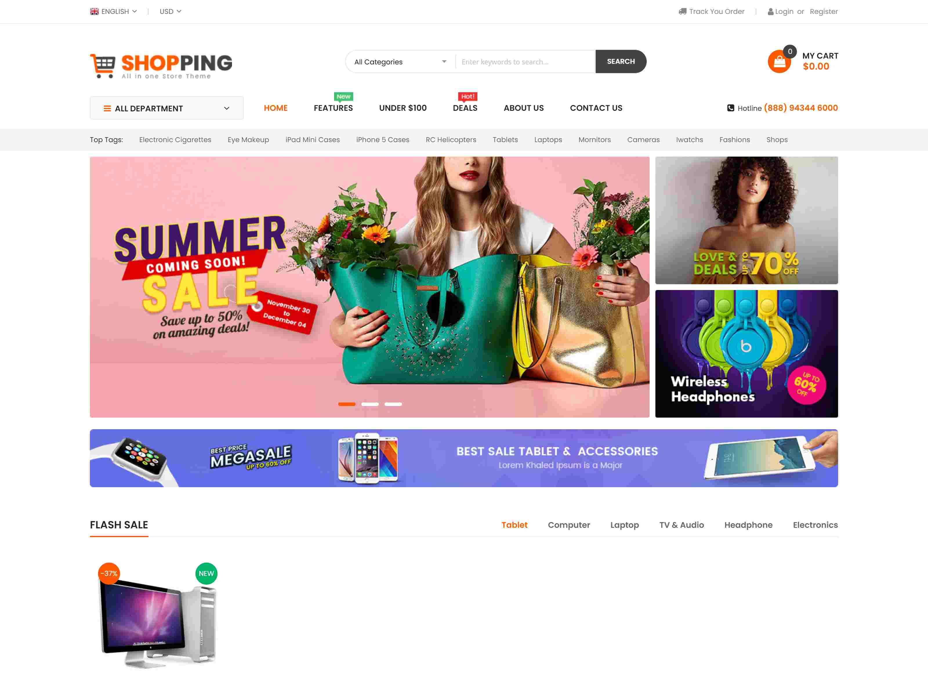 Shopping - Multipurporse eCommerce Magento 2 Theme