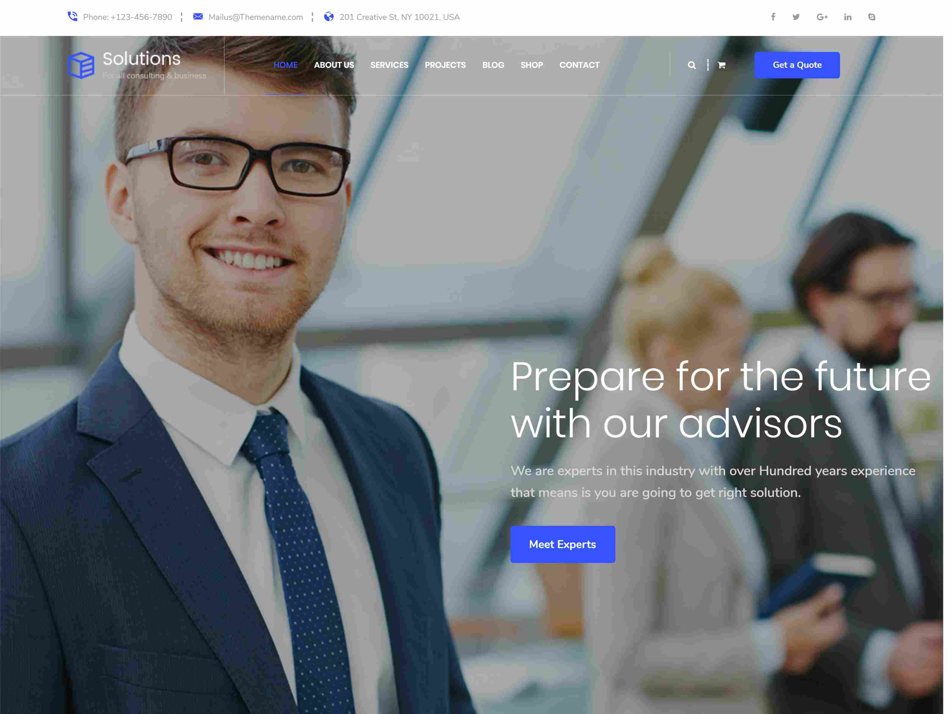 Solutions - Business Consulting Joomla Template