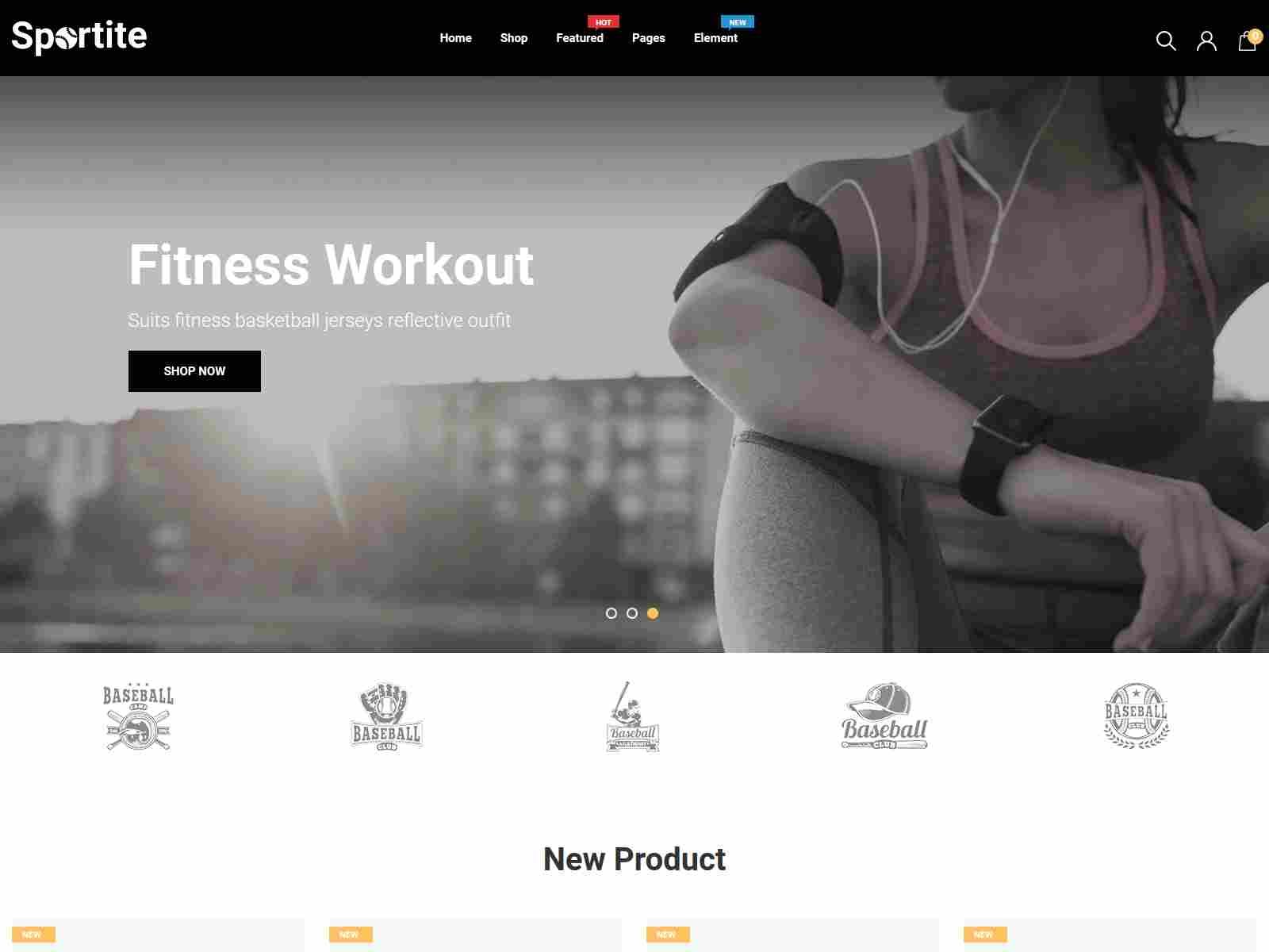 Sportite - Sports Wear And Accessories Responsive Shopify Theme