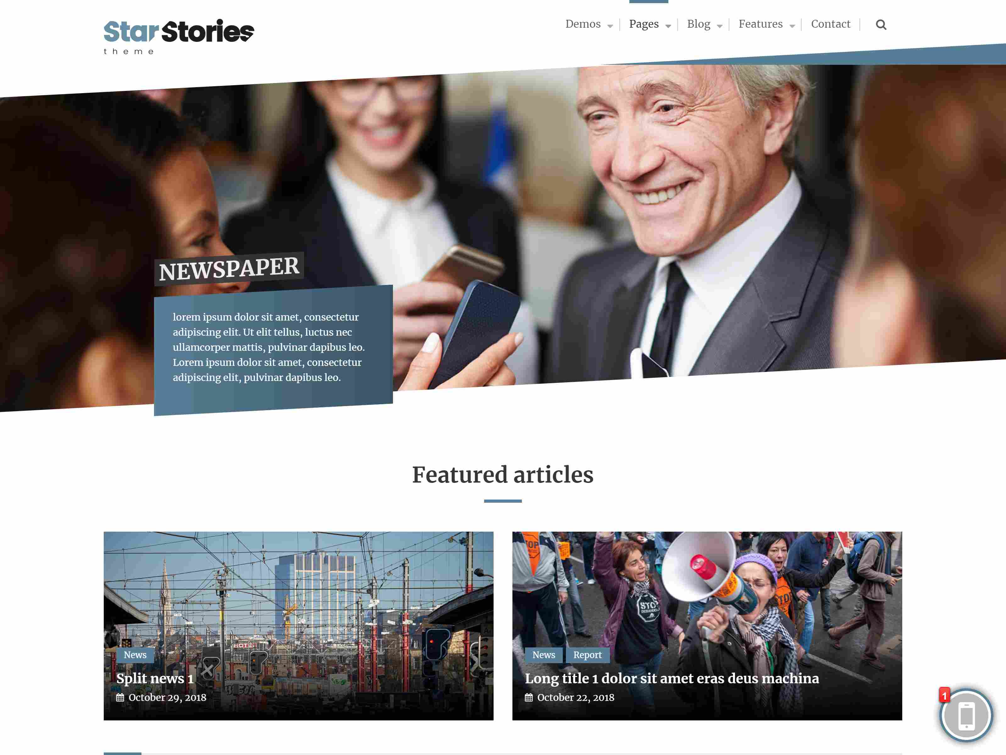StarStories - Creative Magazine & Blog theme wordpress news themes