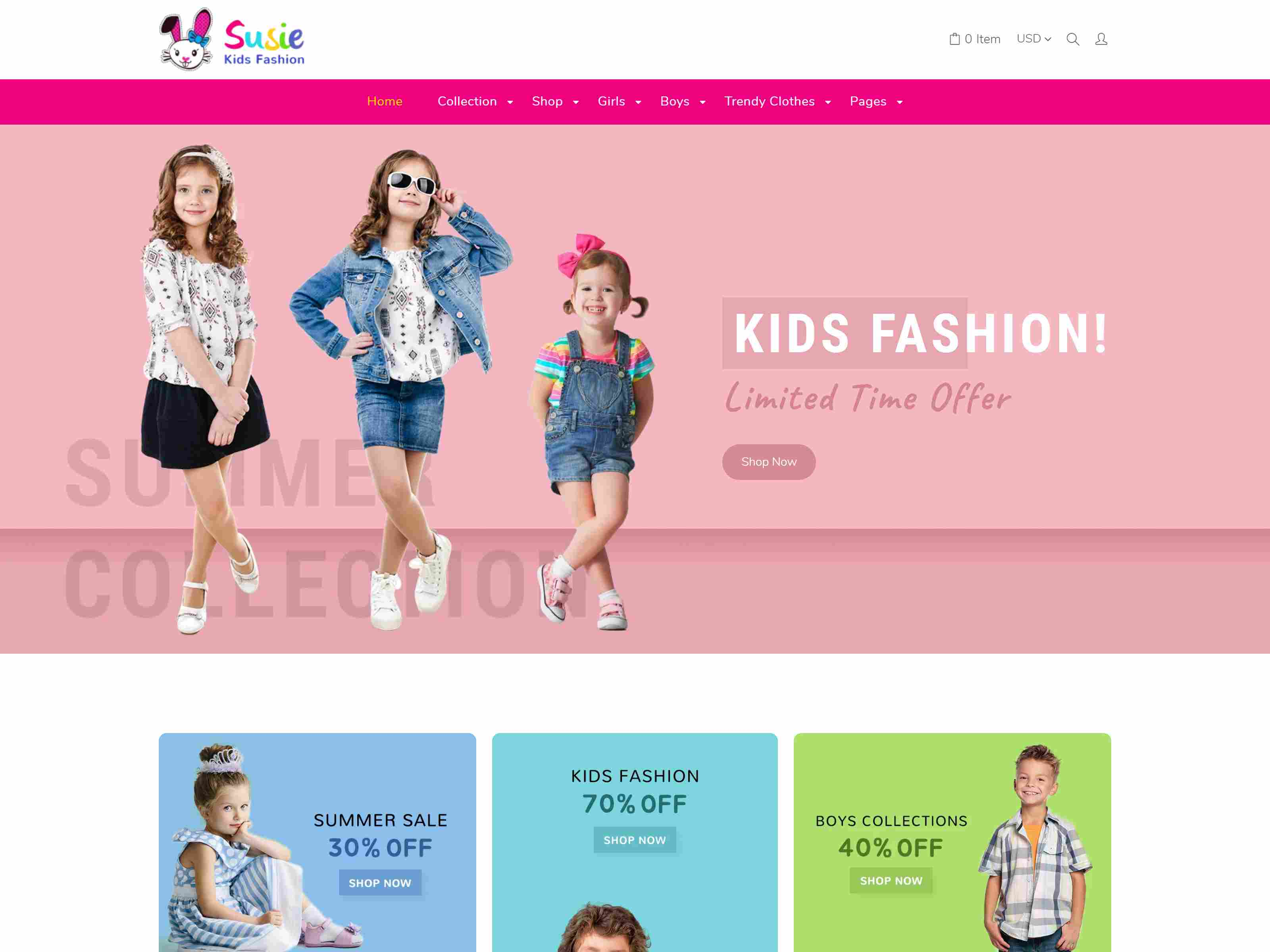 Susie | Children Shopify Theme