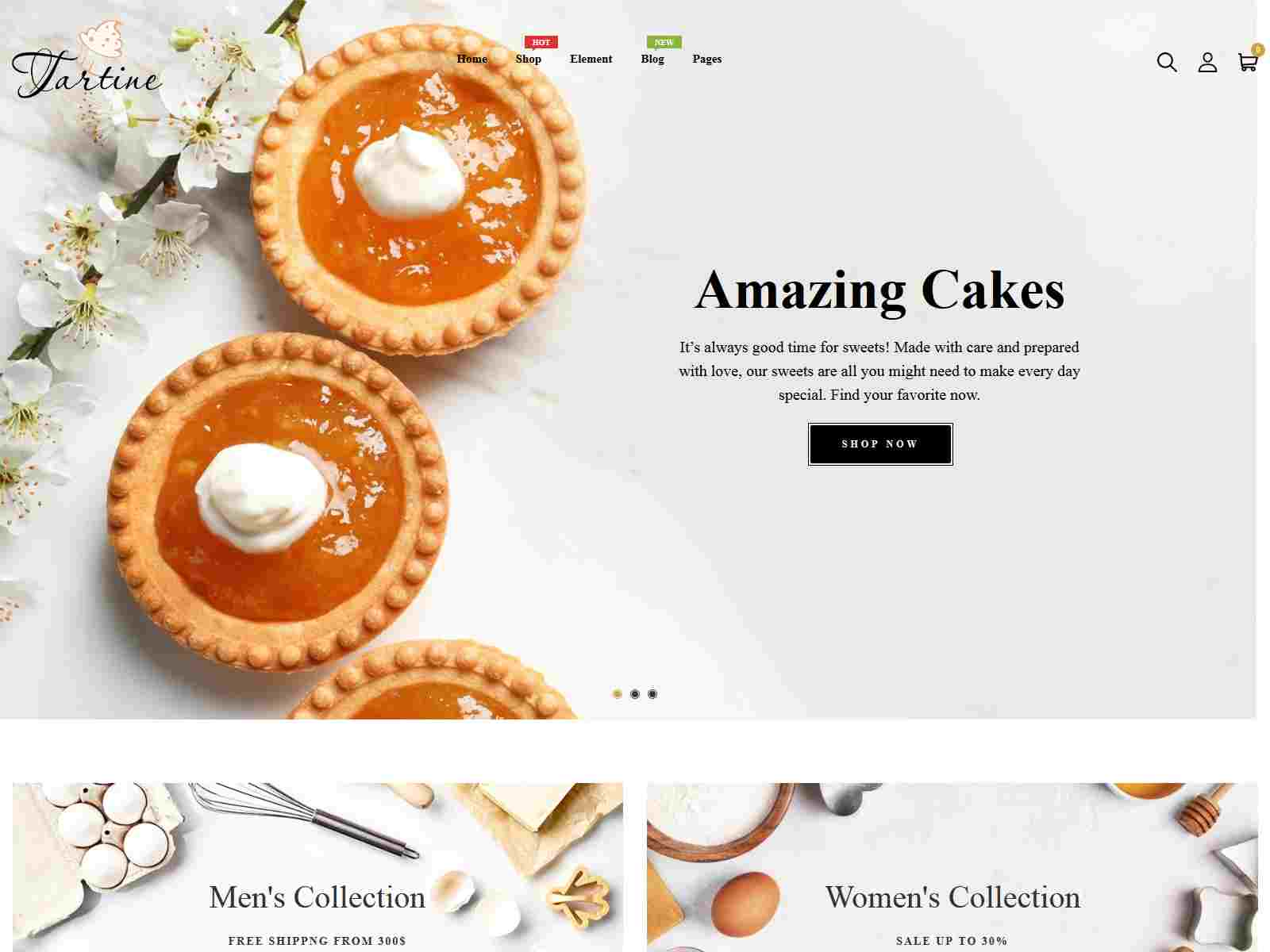 Tartine - Cake and  Bakery Responsive Shopify Theme