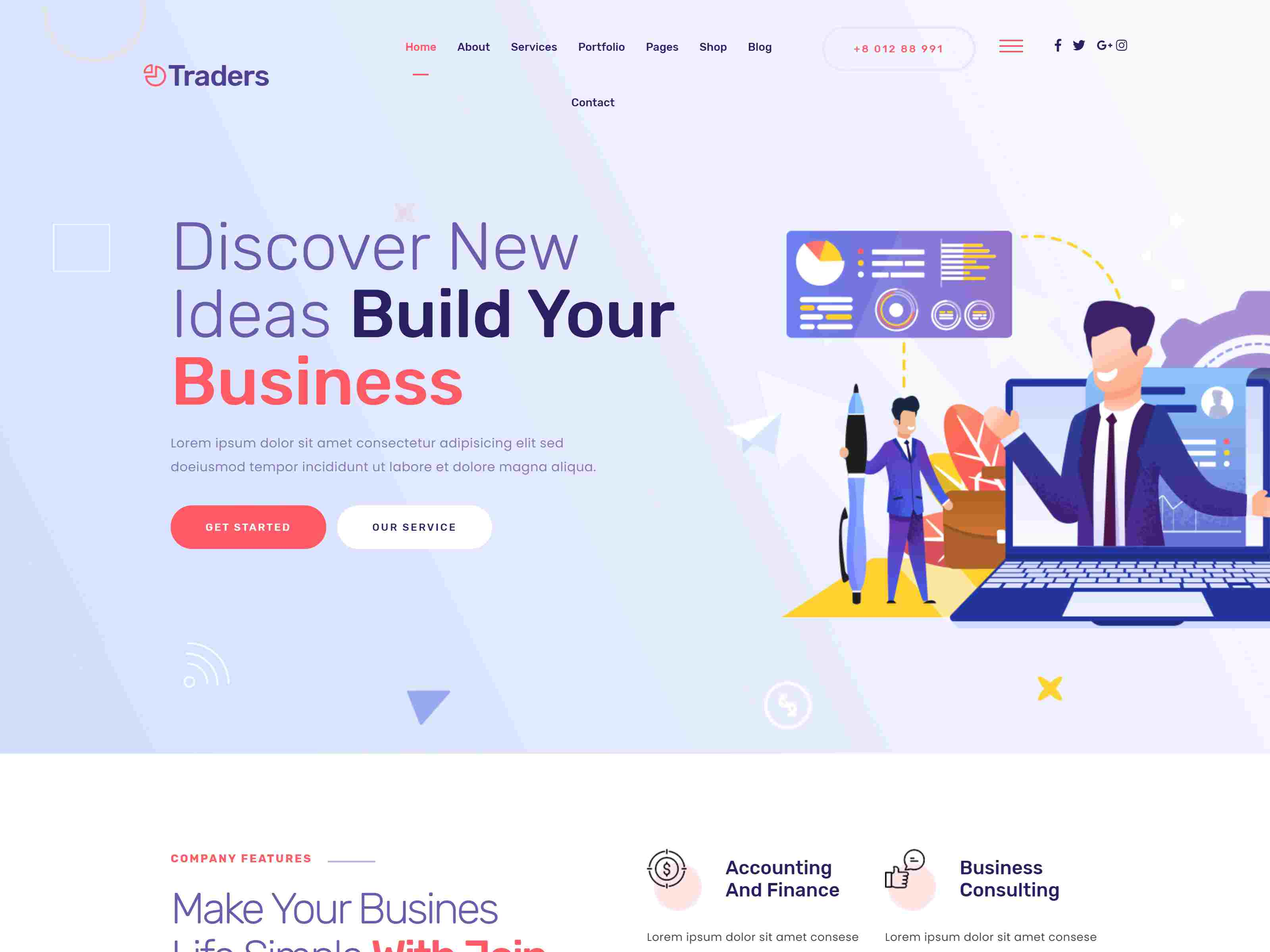 Traders - Digital Marketing & Agency WordPress Theme