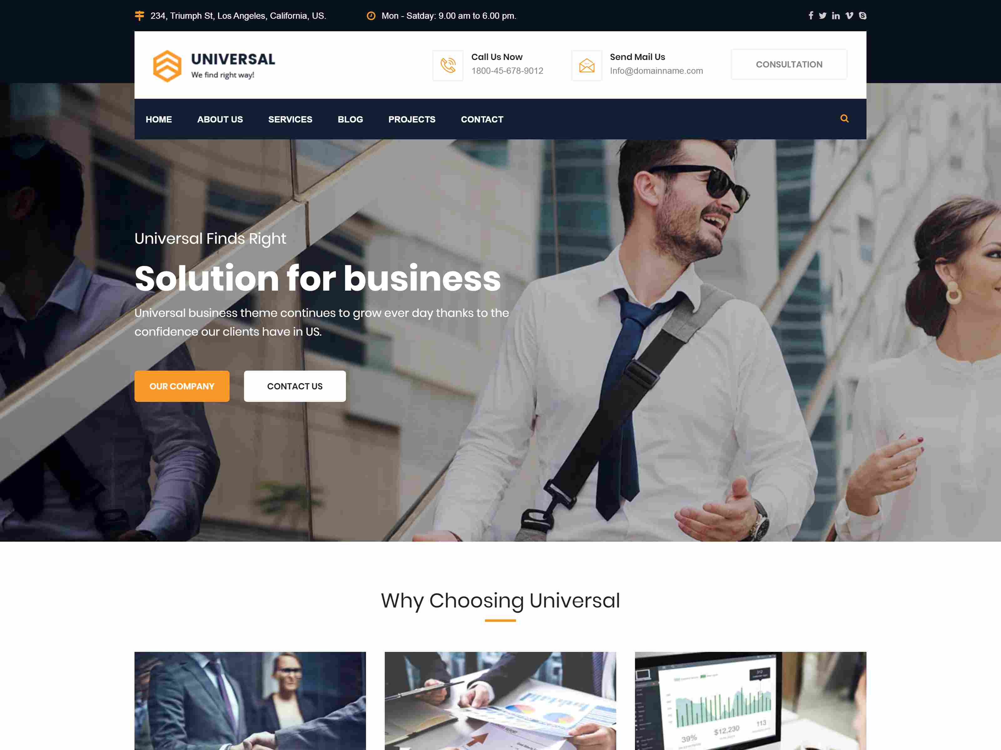 Universal - Consulting Business Drupal Theme