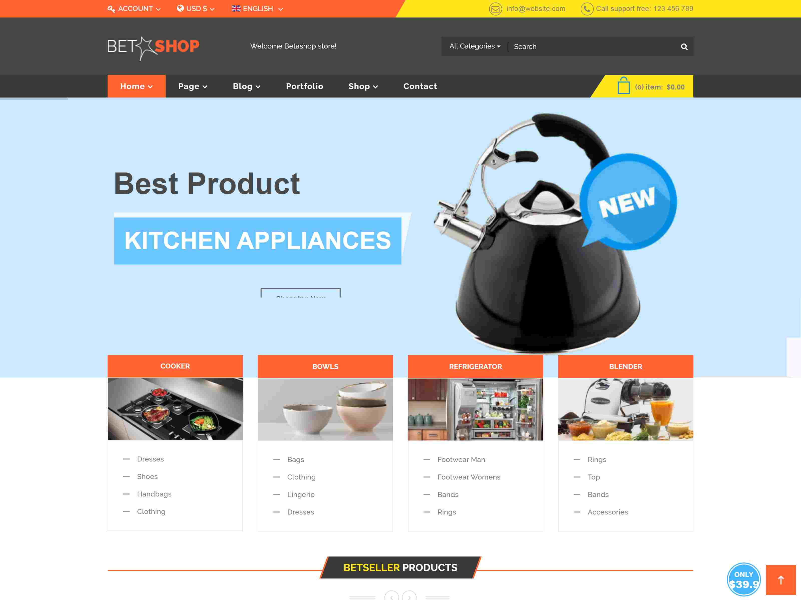 Best Premium Kitchen Joomla Themes
