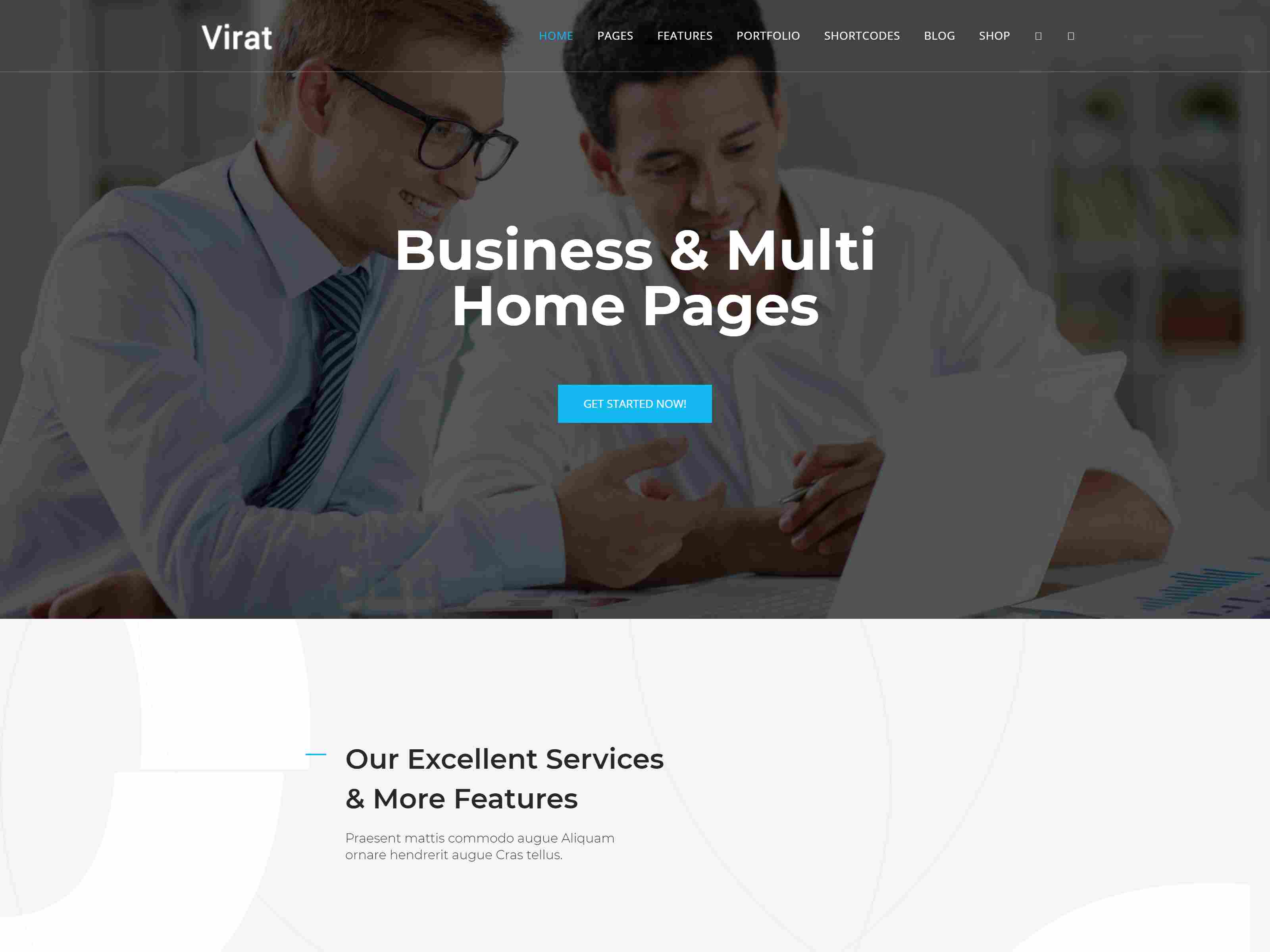 Virat - Responsive Multi-Purpose Joomla Website Template with Page Builder