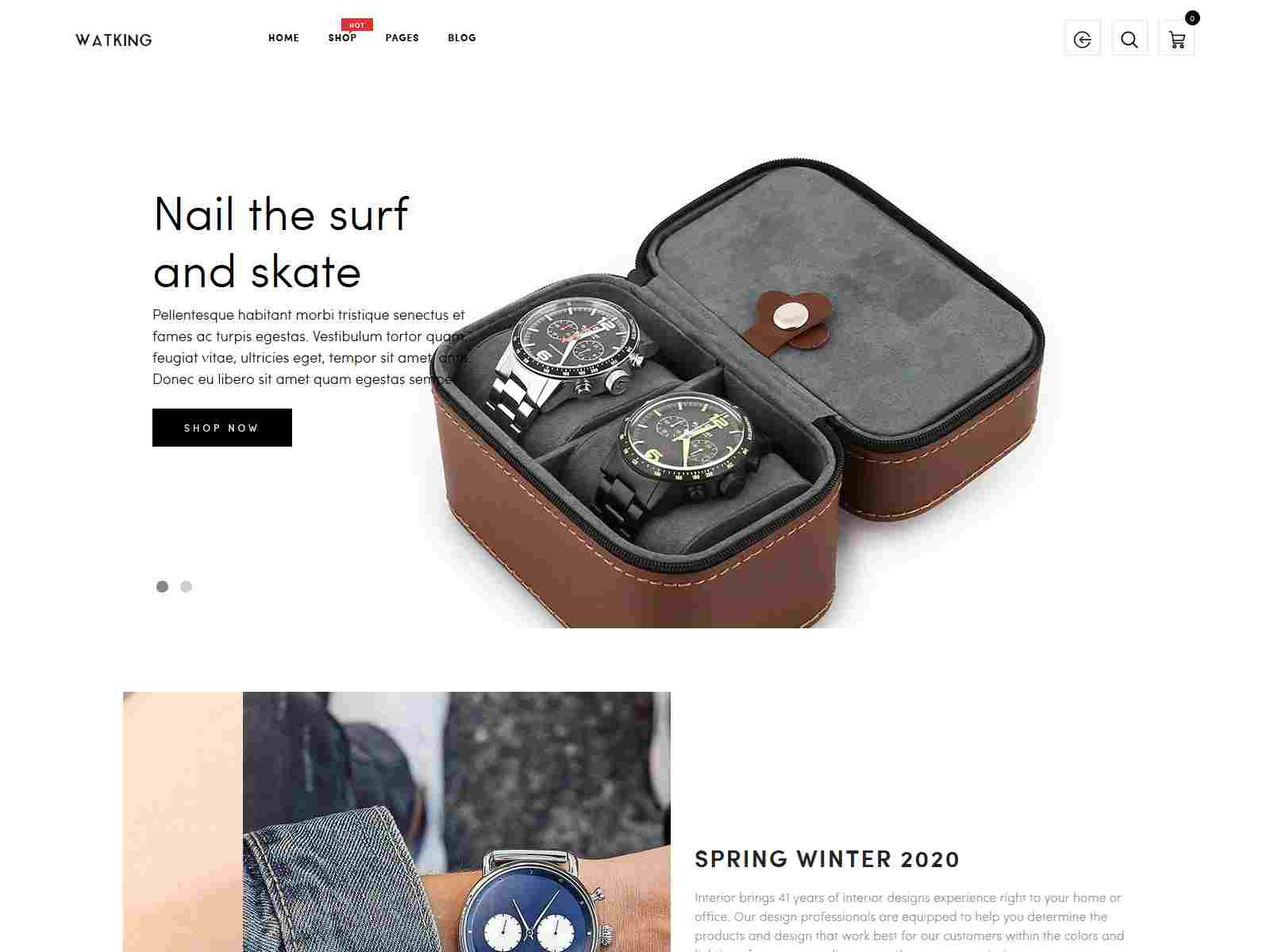 Watking – Minimal and  Clean Watch Store Shopify Theme