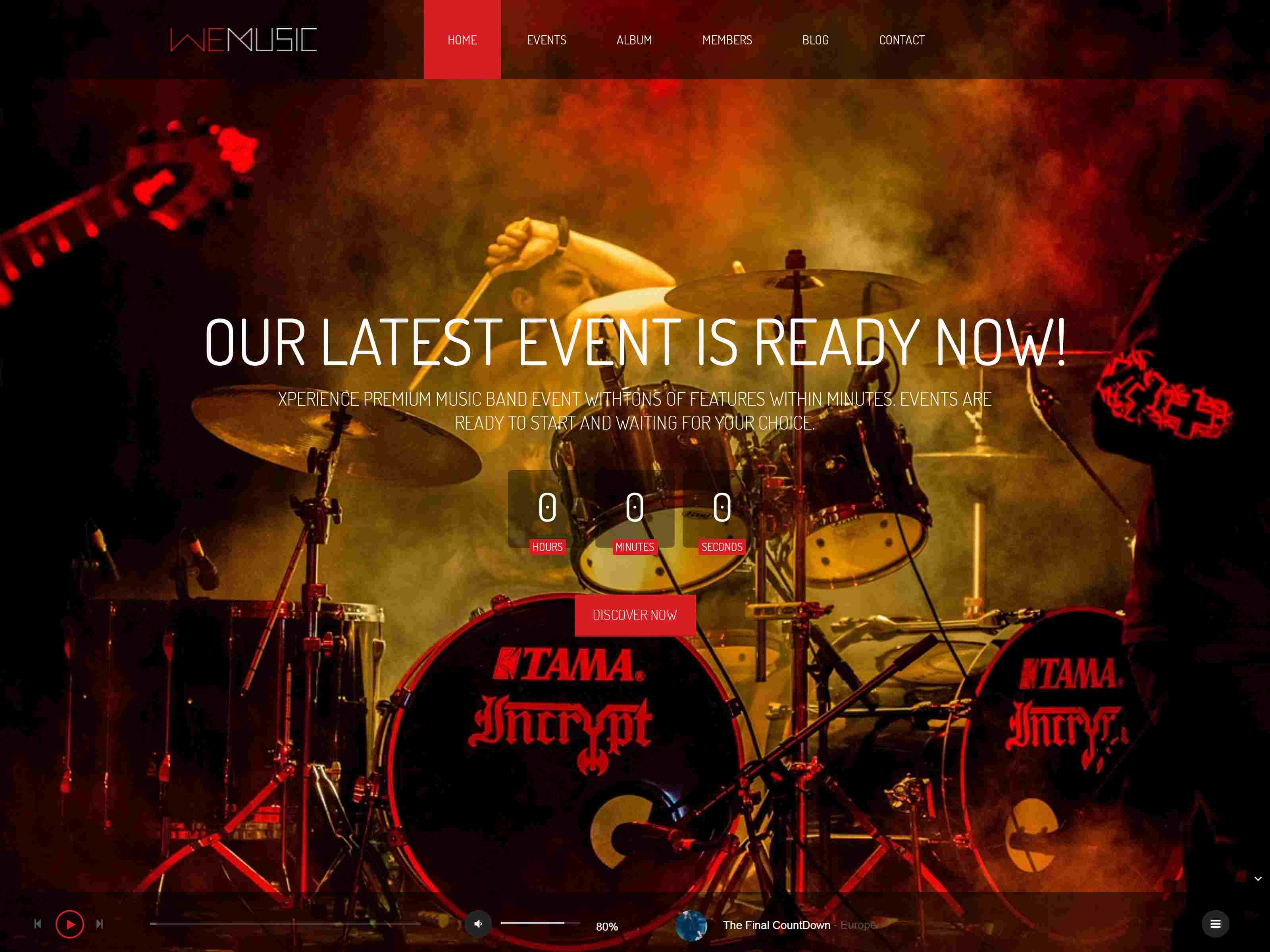 WeMusic - Music Band Event Drupal Theme