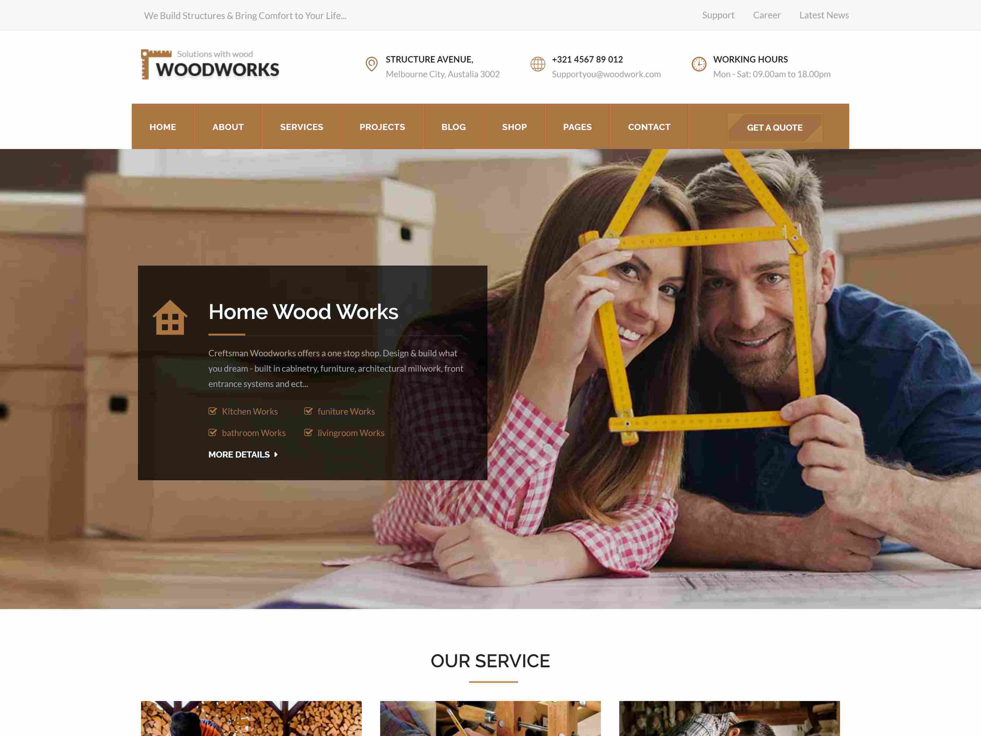 Best Premium Carpenter Joomla Themes