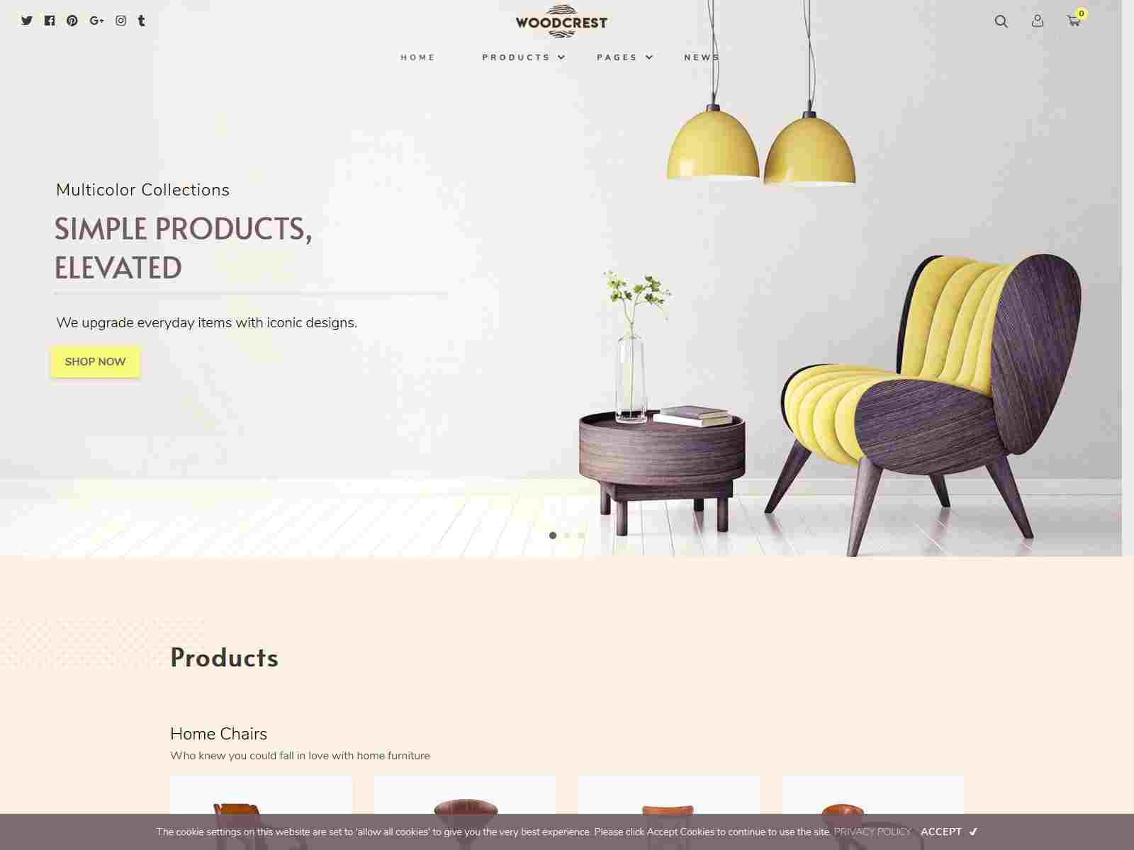 WoodCrest - Furniture Shopify Theme