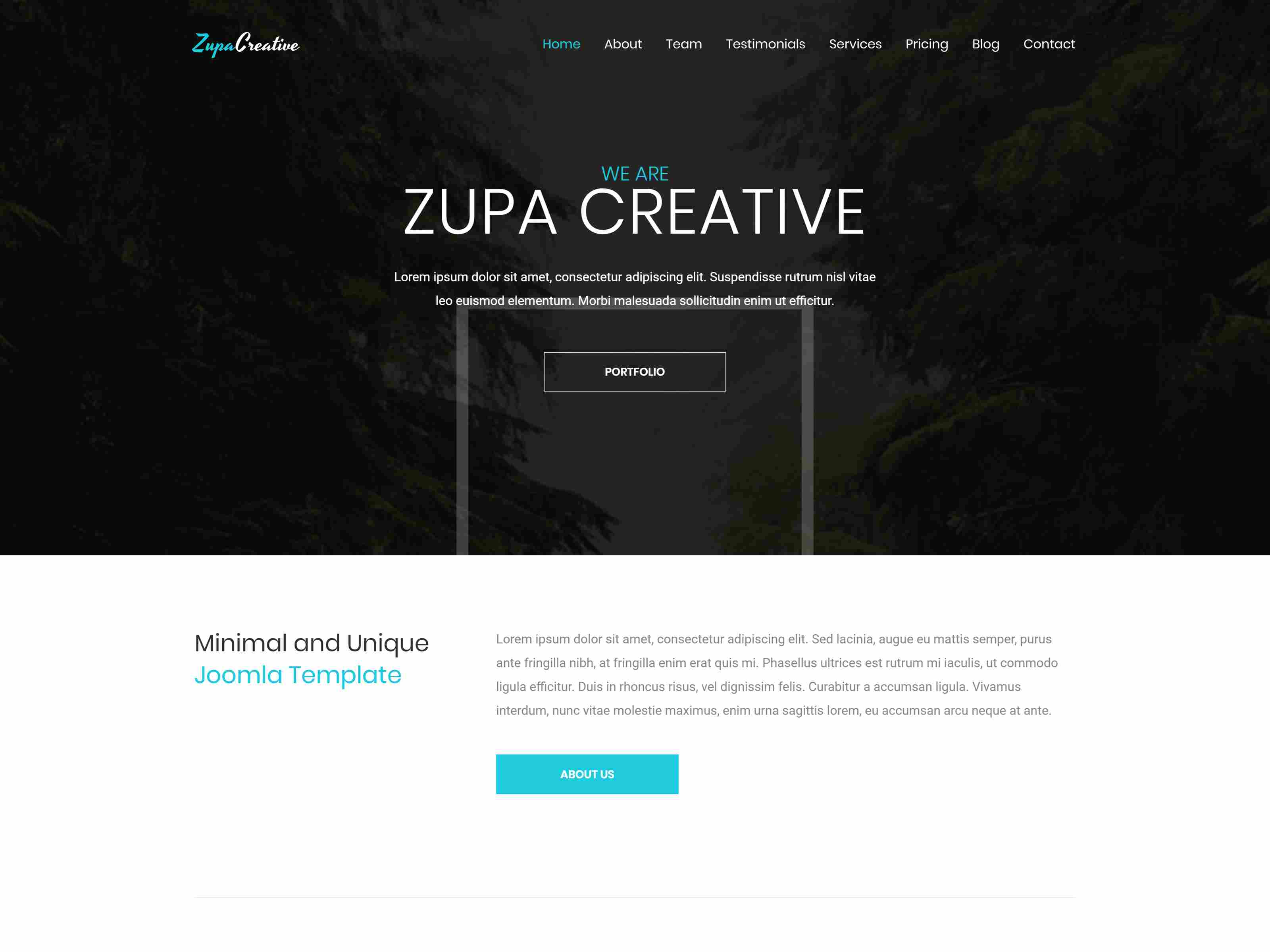 ZupaCreative – Business and Creative Agency Joomla Template