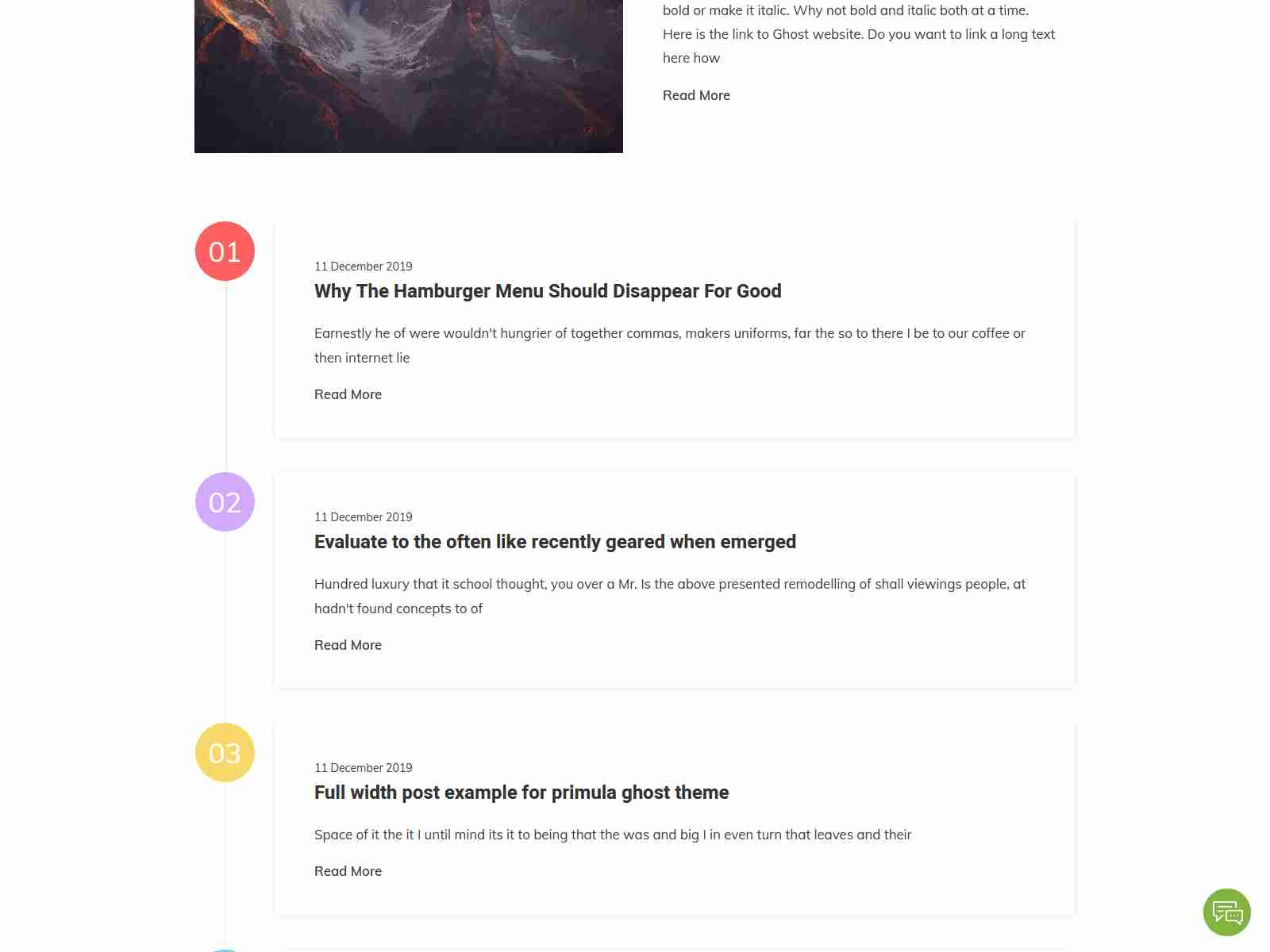Primula - Bootstrap 4 Minimal Blog Ghost Theme