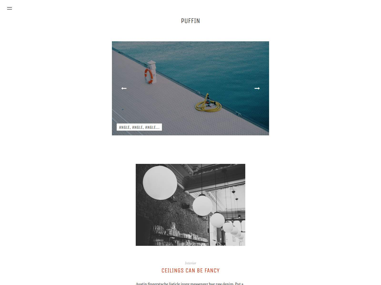 Puffin - Responsive Ghost Theme
