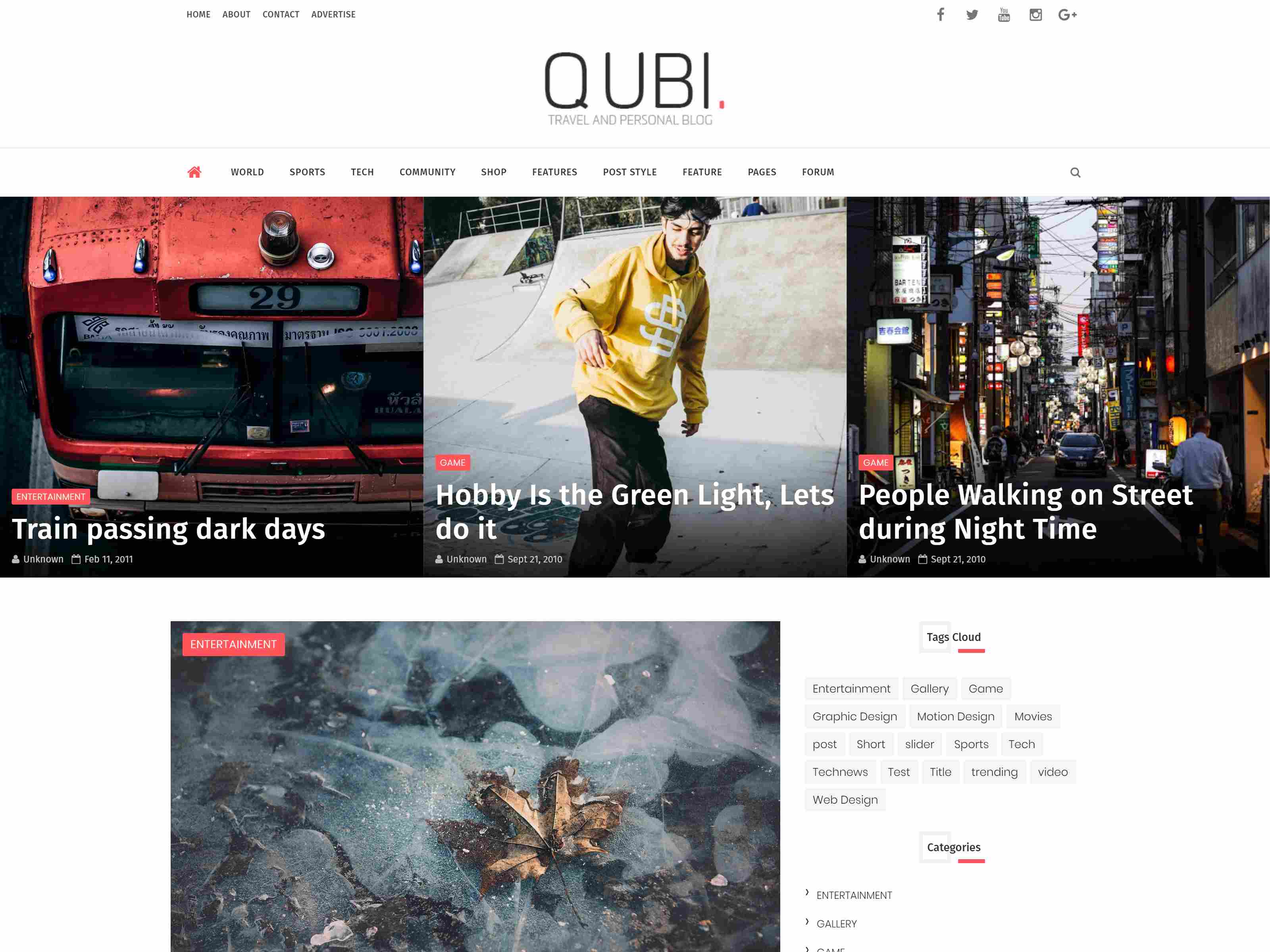 Qubi Blogger Template | Fashion, Beauty, News & Blog Theme