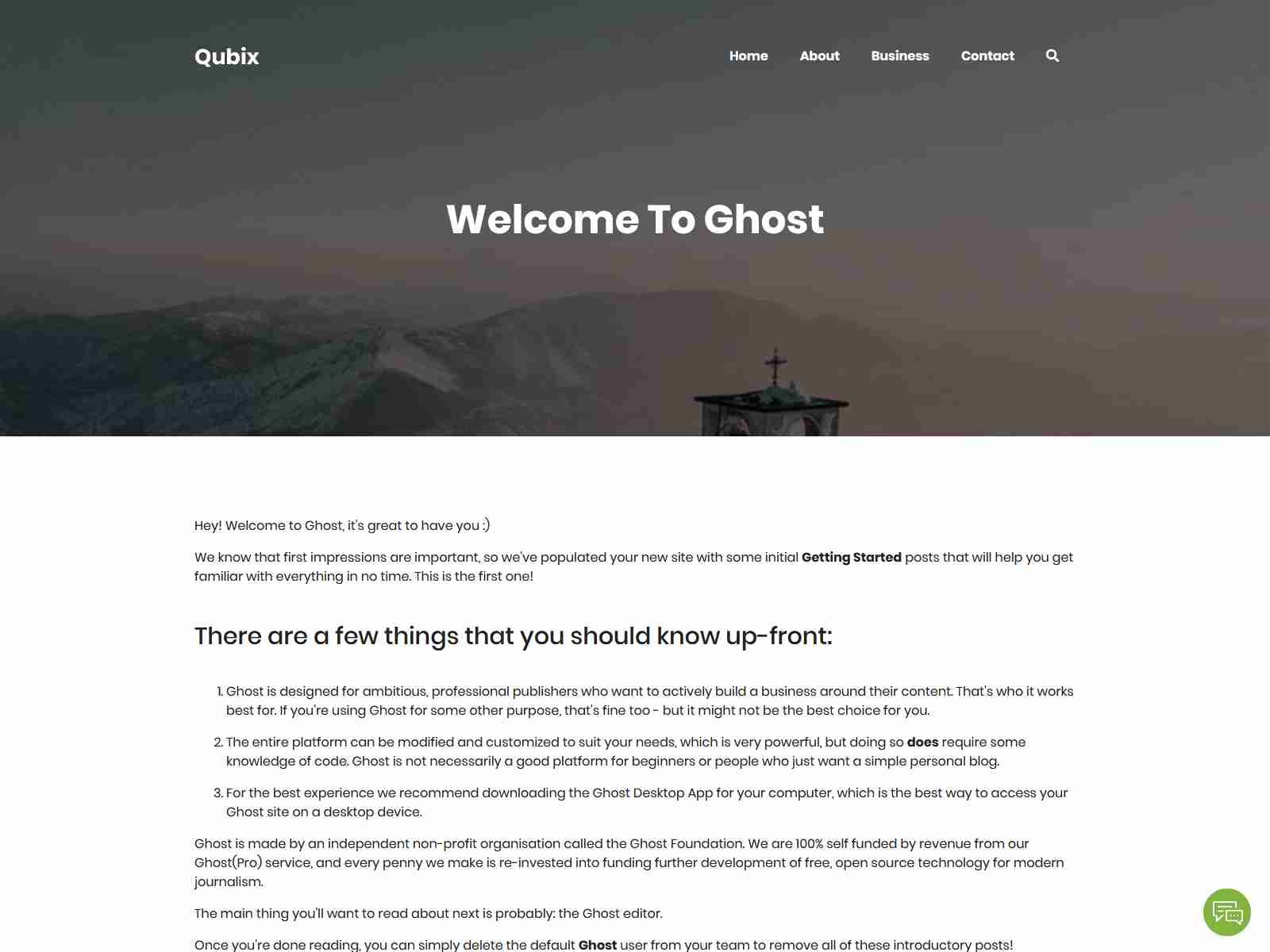Qubix - Minimal and Clean Ghost Blog Theme