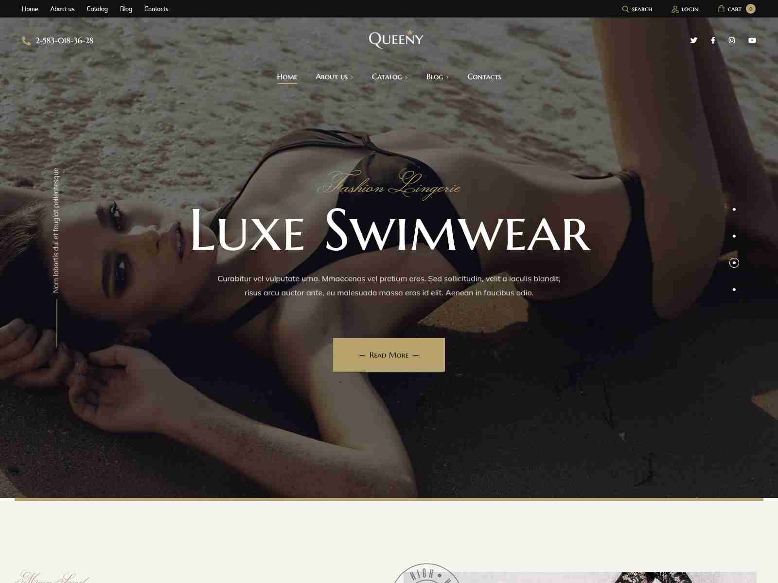 Queeny - Fashion Lingerie WordPress Theme