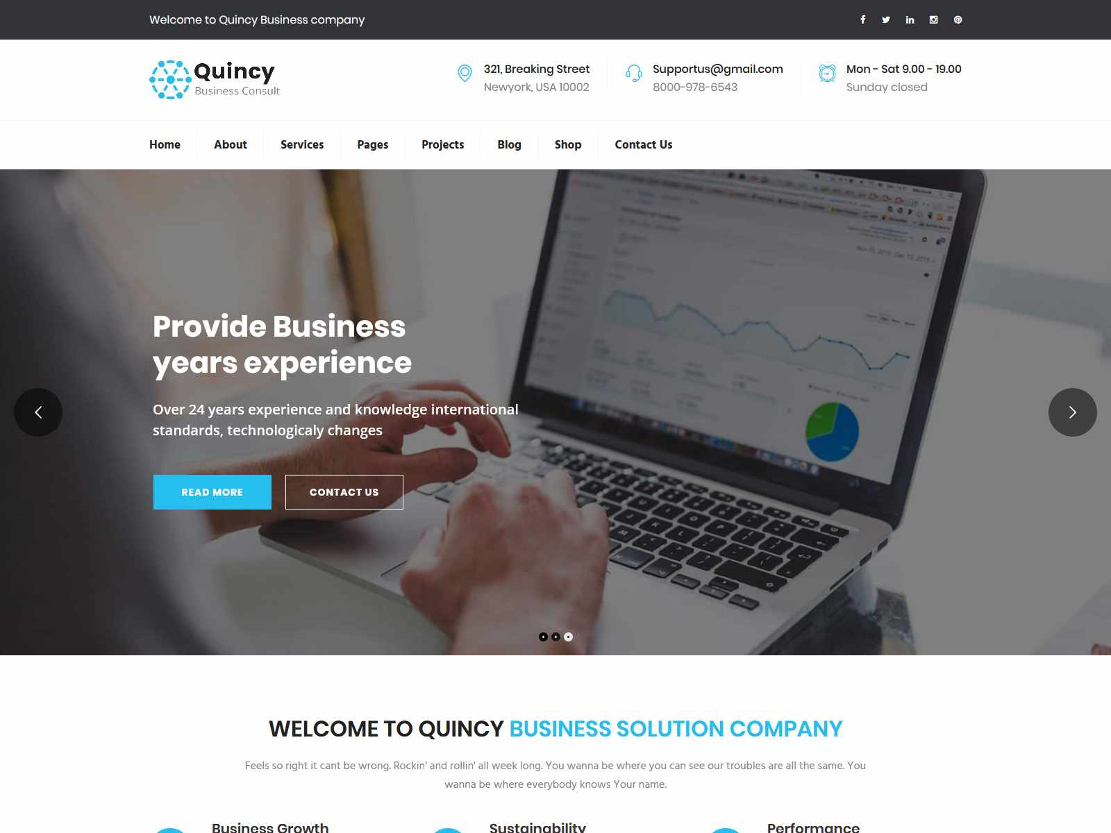 Quincy - Business Consulting WordPress Theme Consulting Firms WordPress Themes