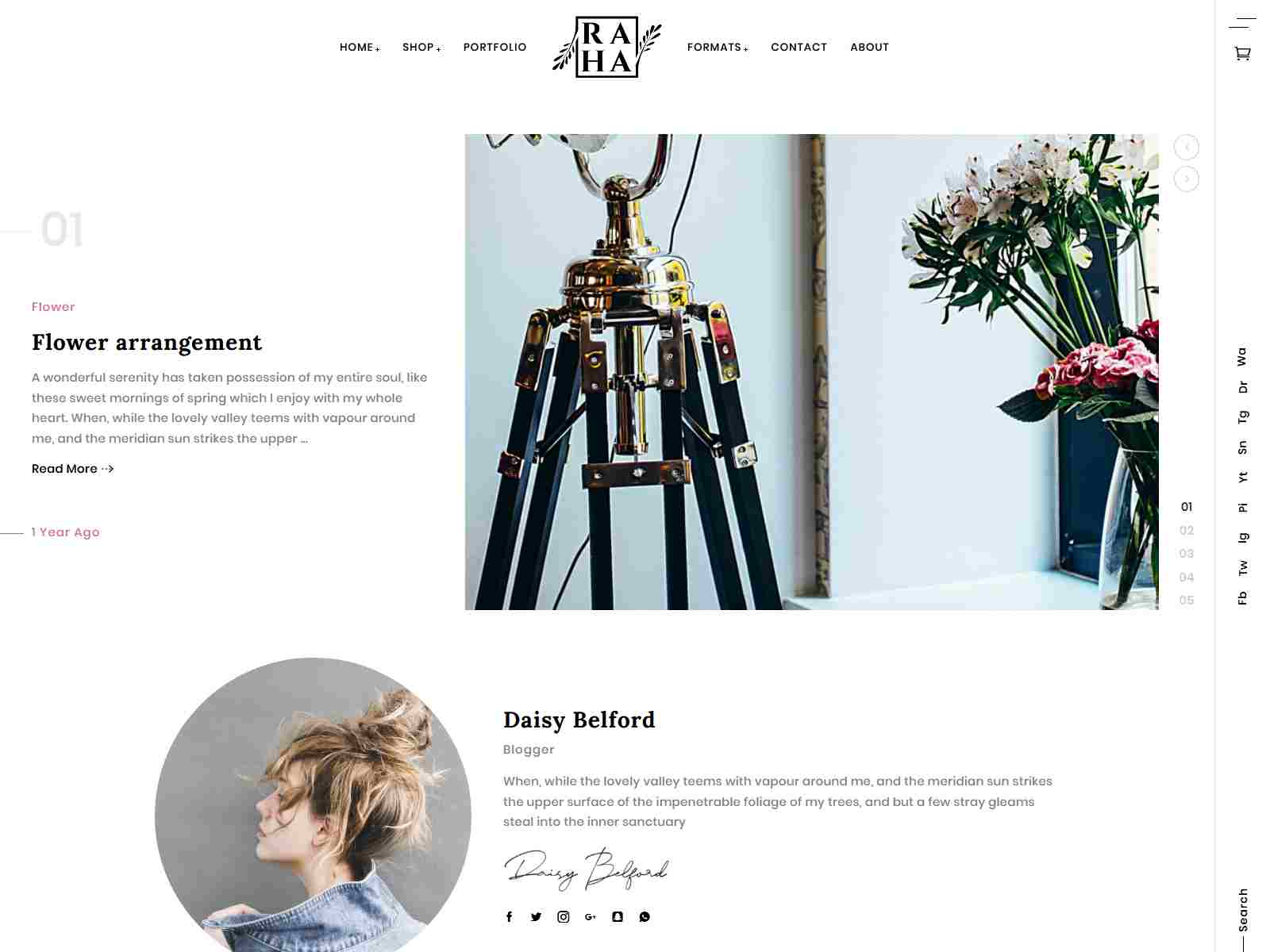 Raha - Creative WordPress Theme