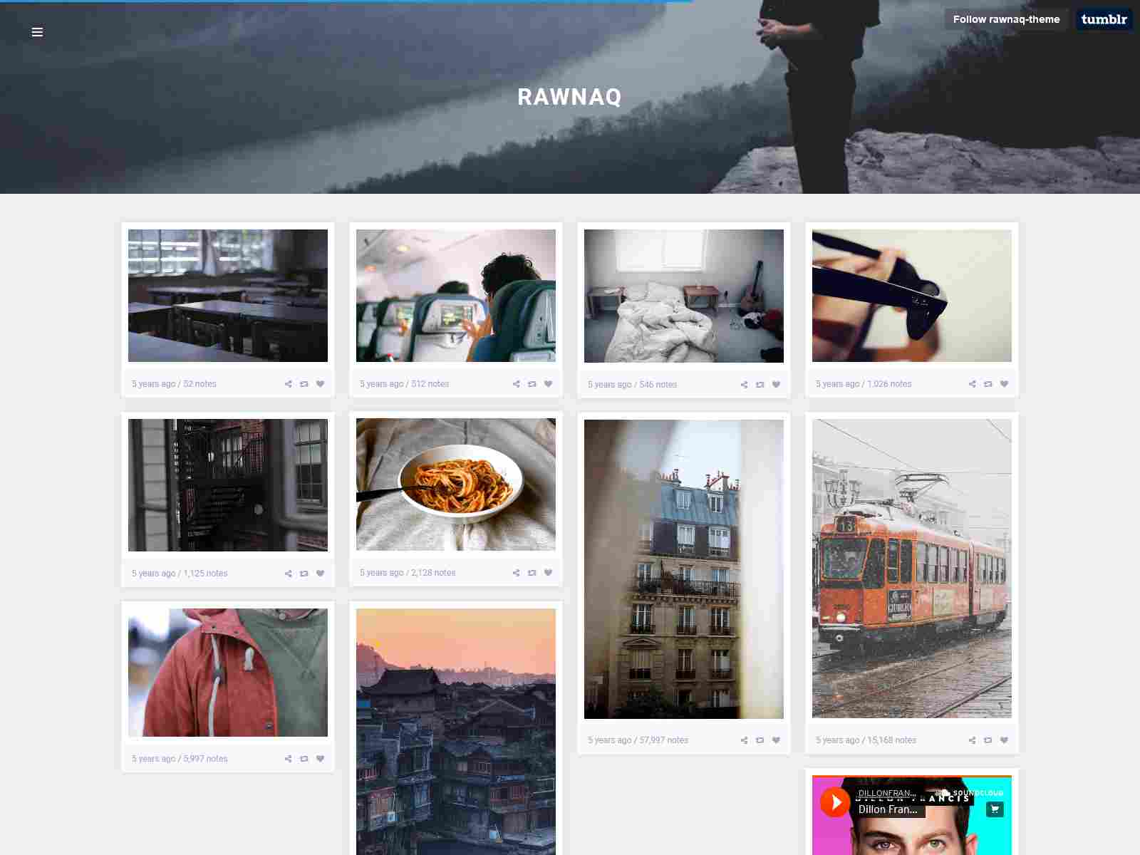Rawnaq - Responsive Portfolio Theme For Tumblr