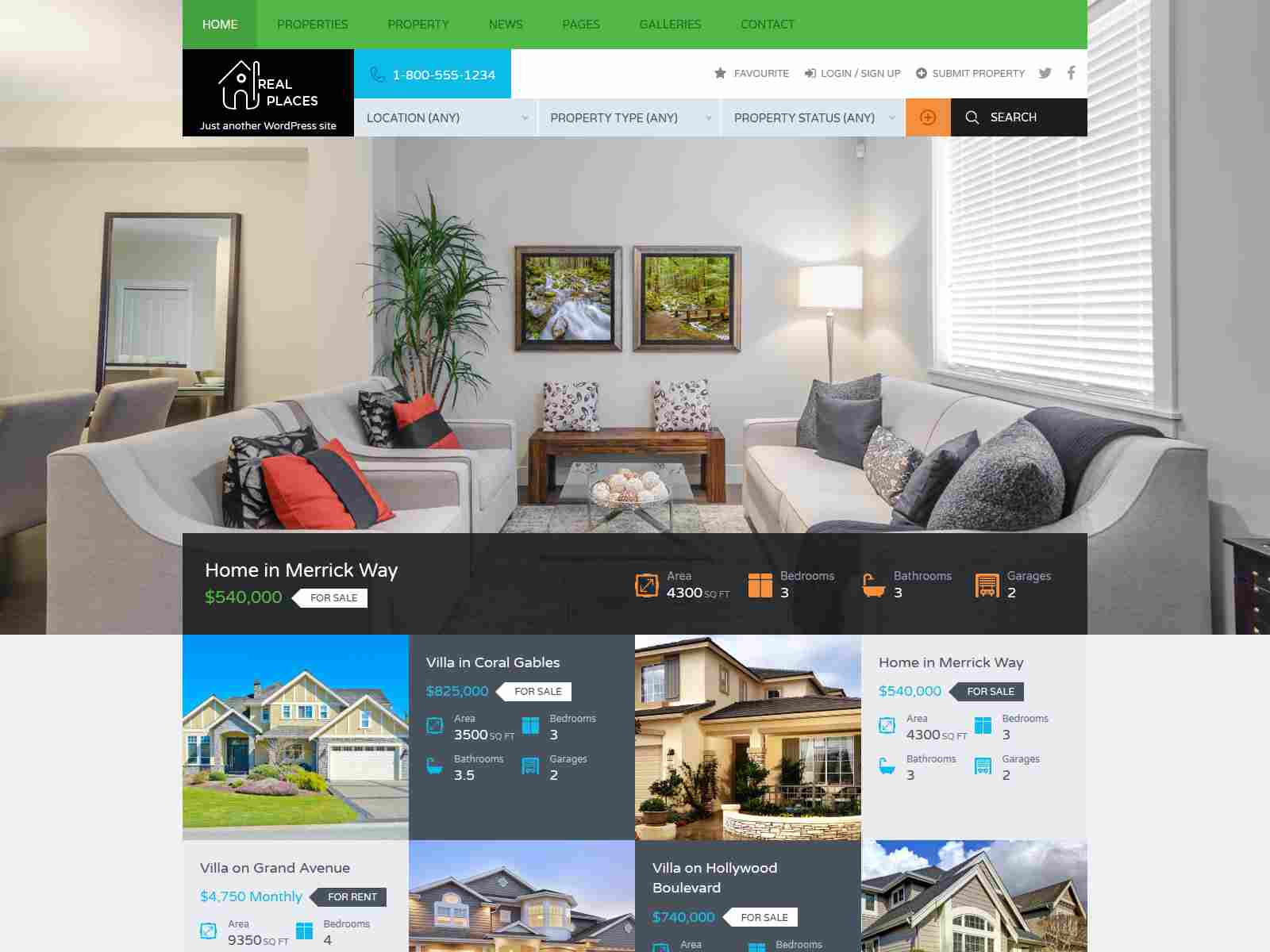 RealPlaces - Estate Sale and Rental WordPress Theme real estate wordpress themes