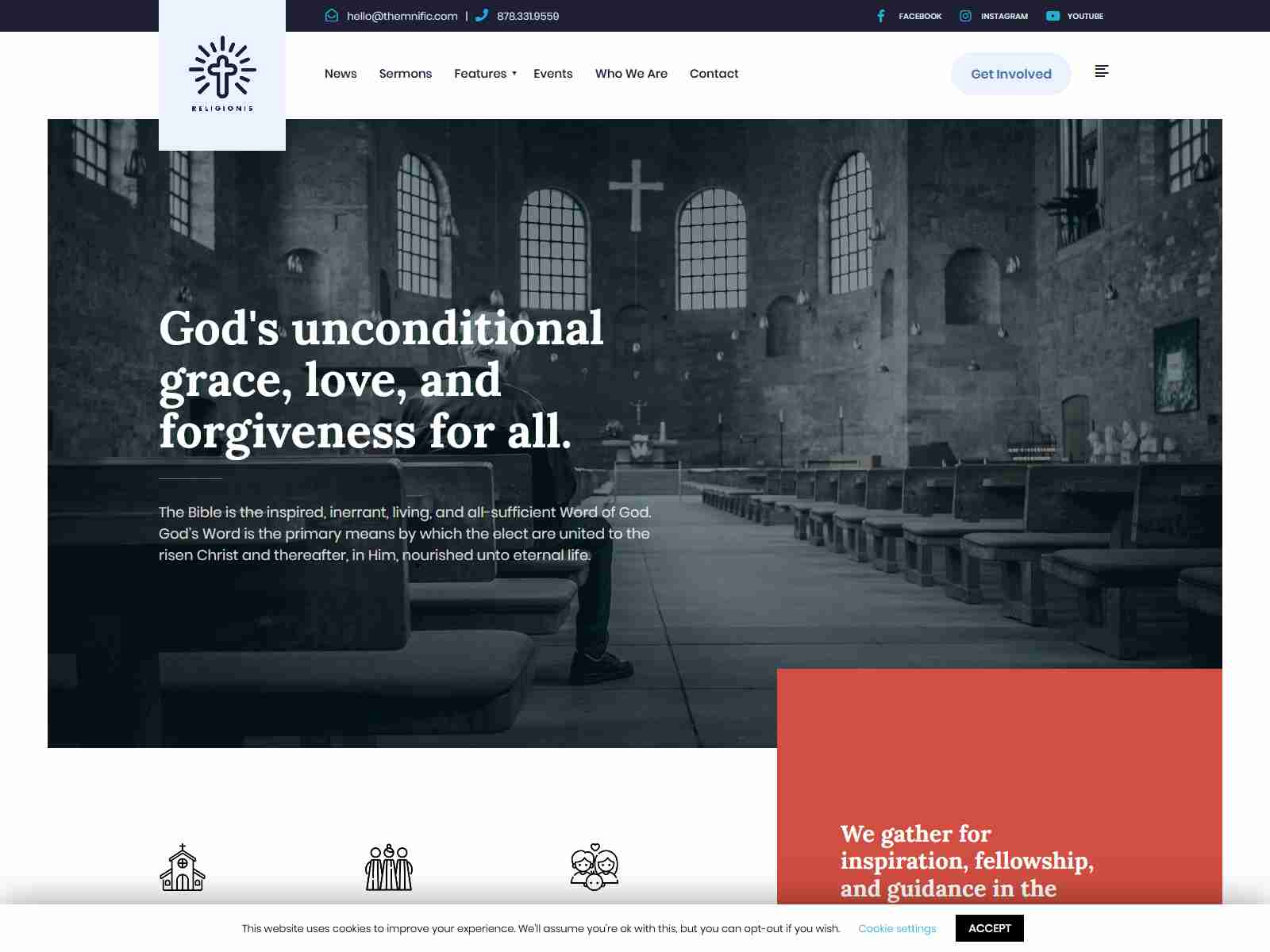 Religionis - Church WordPress Theme fundraising WordPress theme