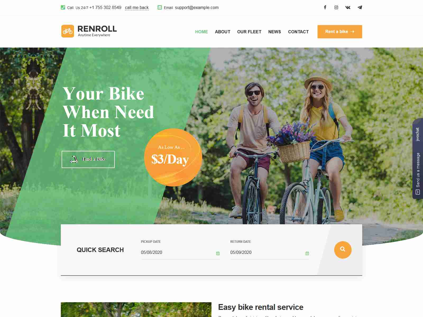 Best Premium Bike Rental WordPress Themes