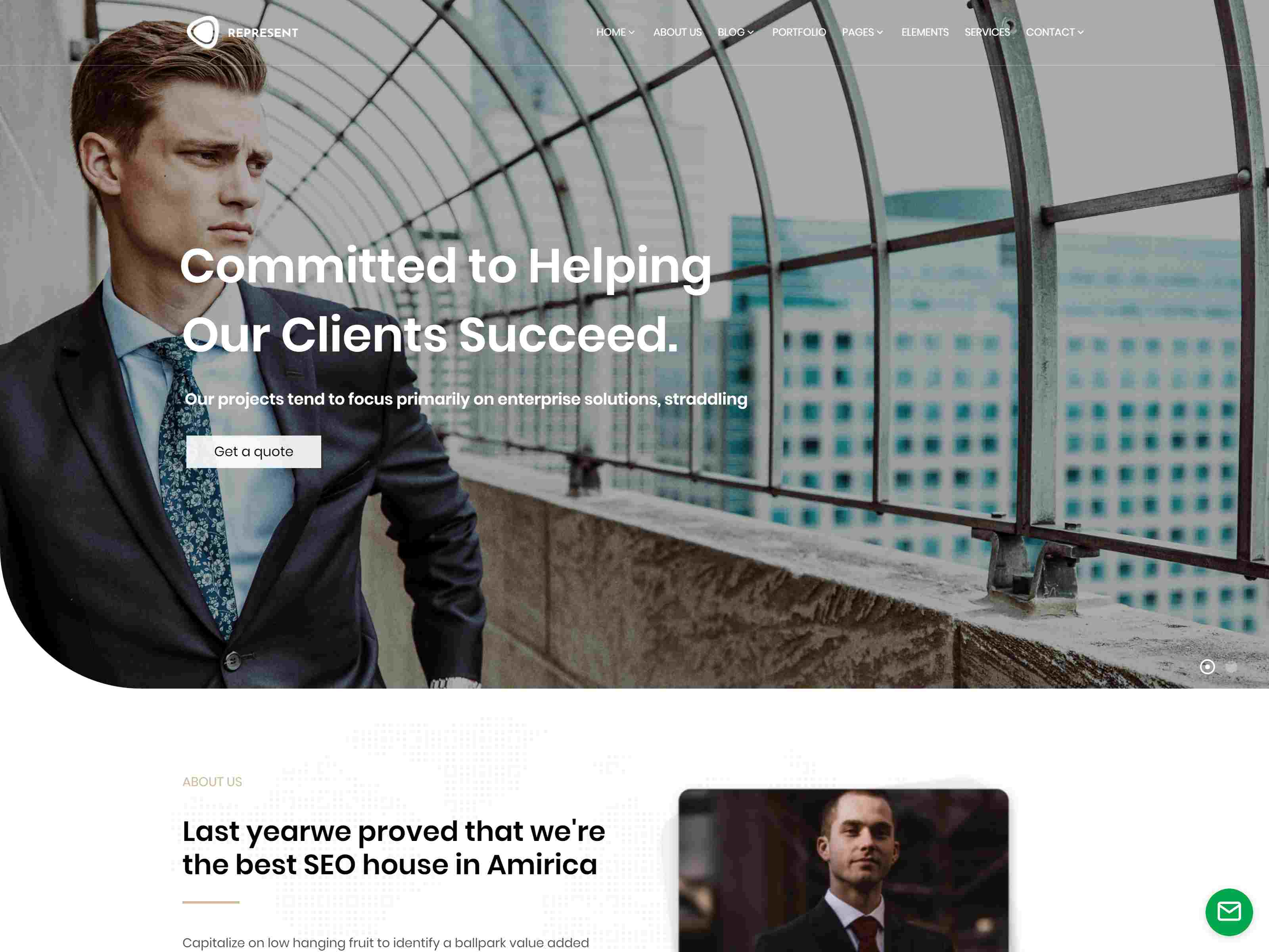 Represent - Consulting Finance WordPress Insurance Company WordPress Themes