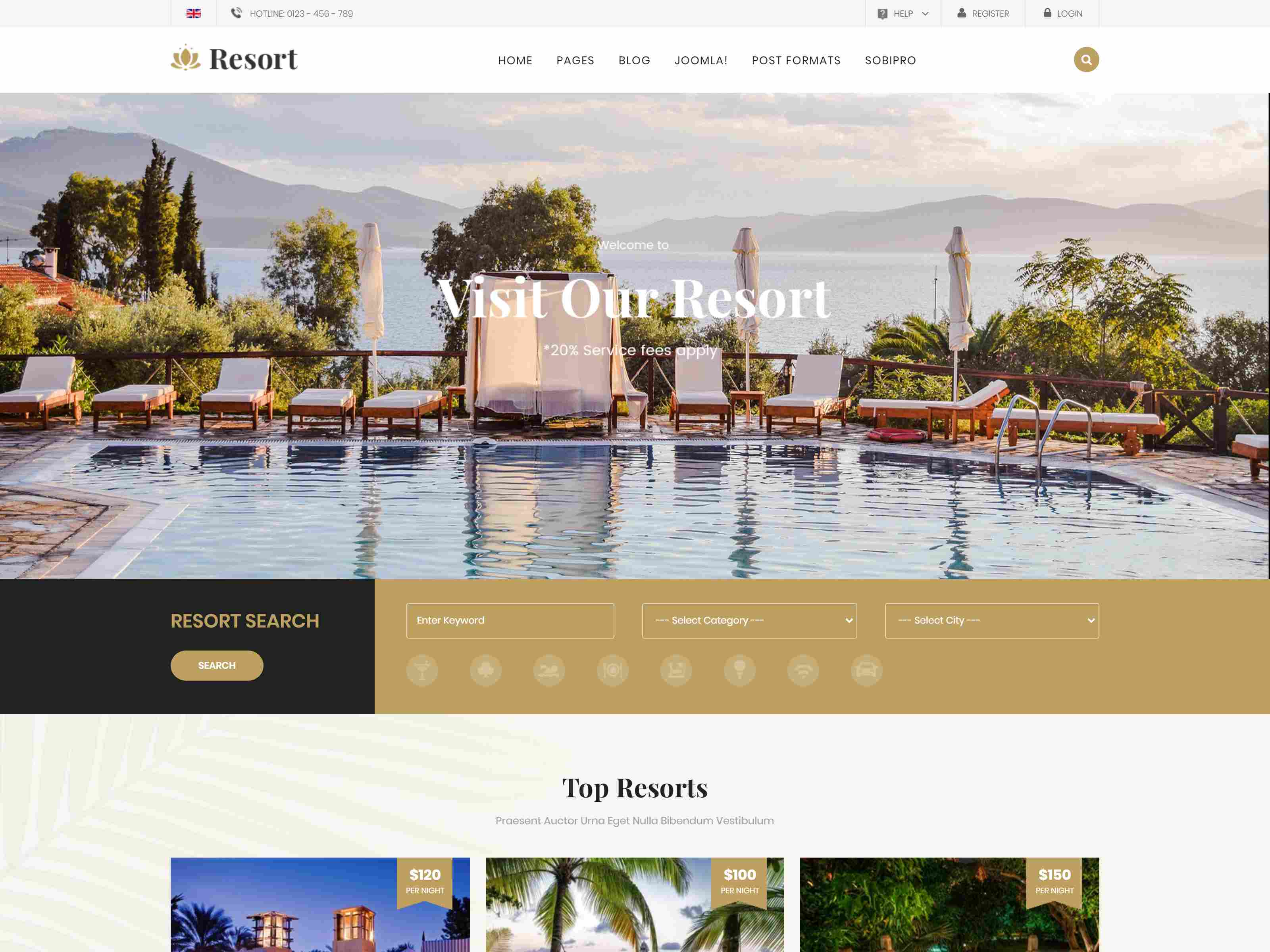 Best Premium Resort Joomla Themes