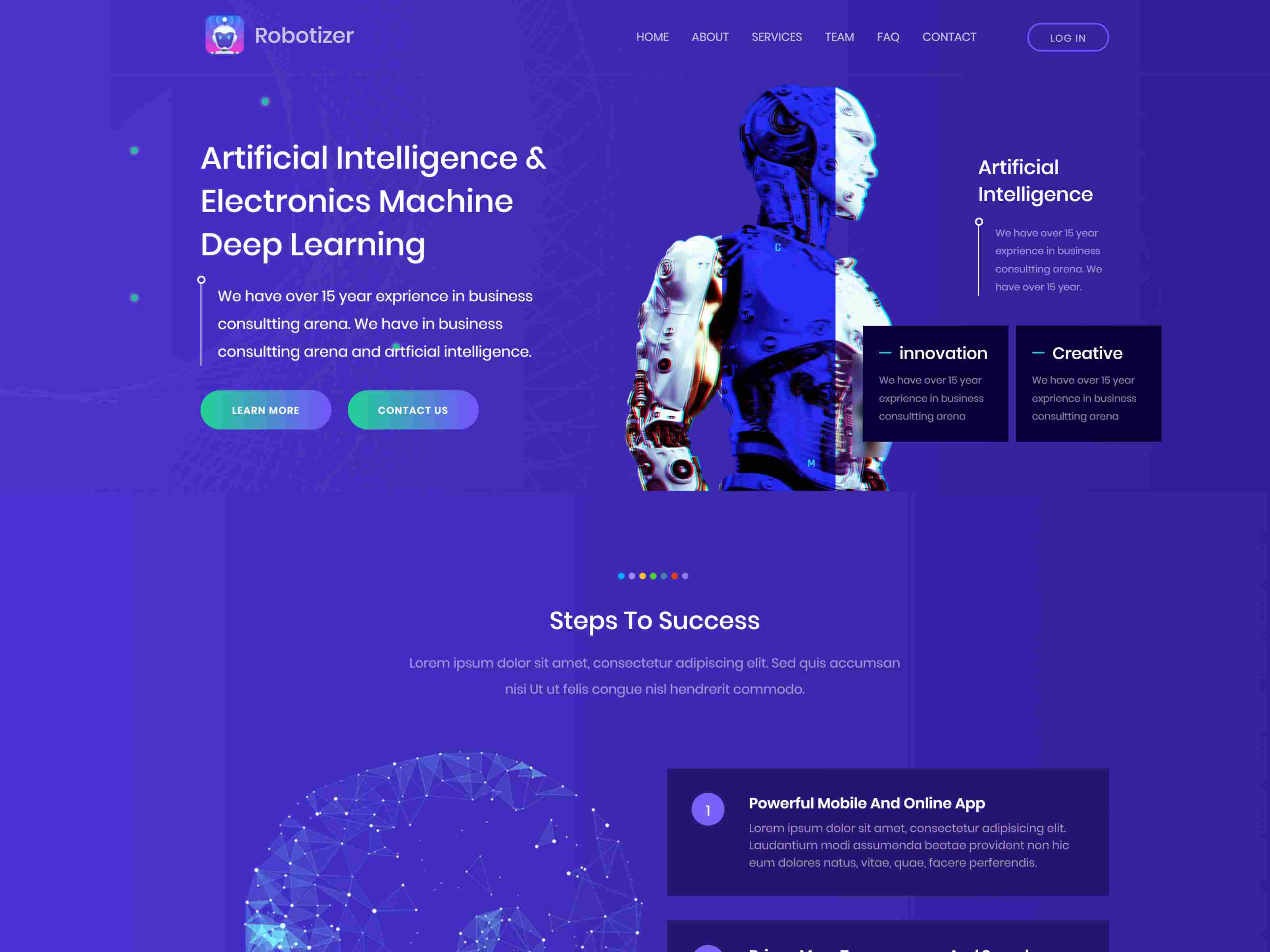 Best Premium Artificial Intelligence Drupal Themes