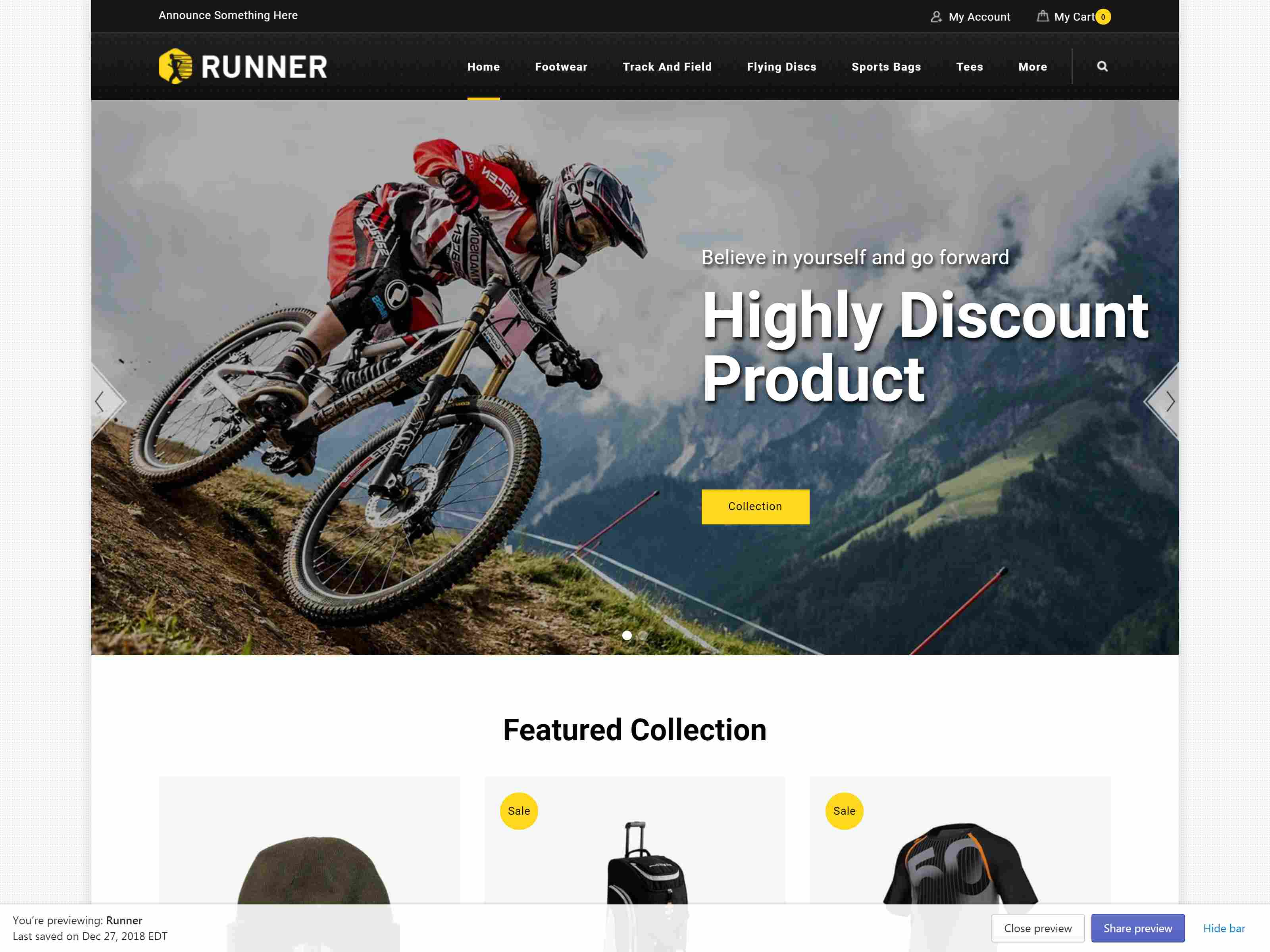 Runner - Sectioned Multipurpose Shopify Theme