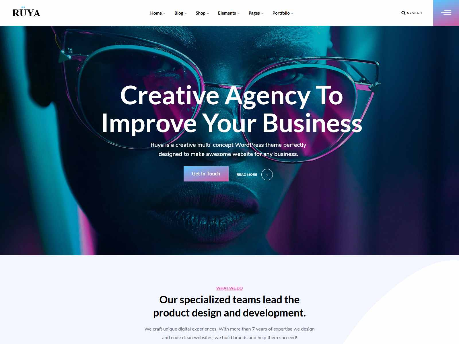 Ruya - Creative Multi-Purpose WordPress Theme