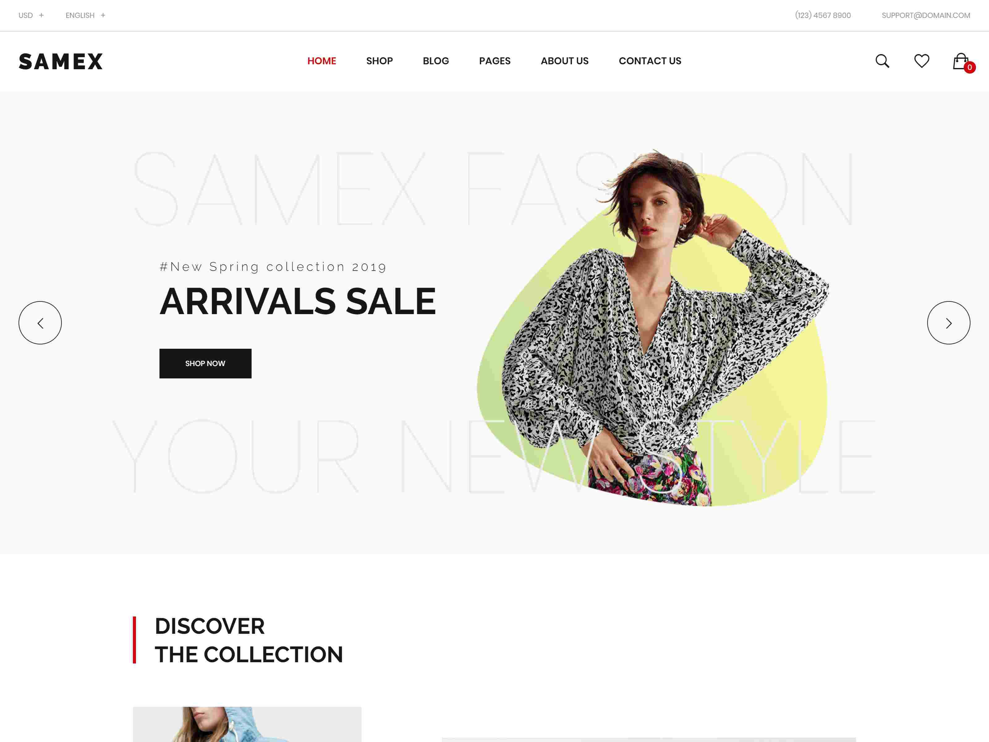 Samex - Clean, Minimal Shop WooCommerce WordPress Theme fashion wordpress themes